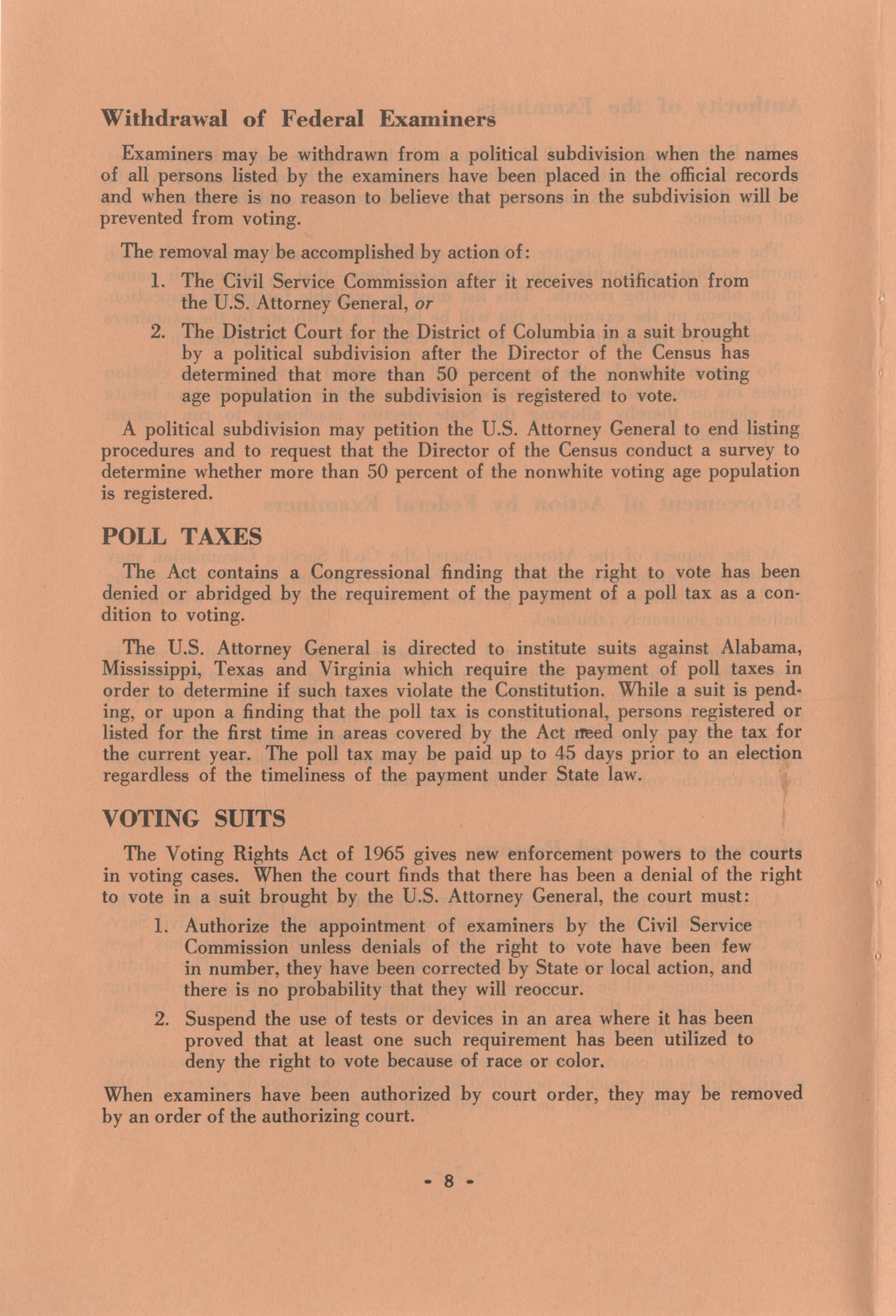 The Voting Rights Act of 1965, Page 8