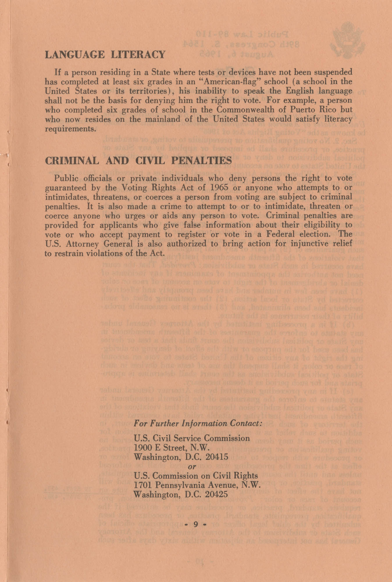 The Voting Rights Act of 1965, Page 9