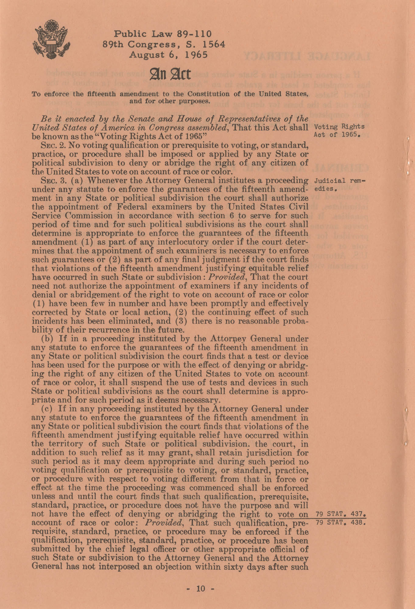The Voting Rights Act of 1965, Page 10