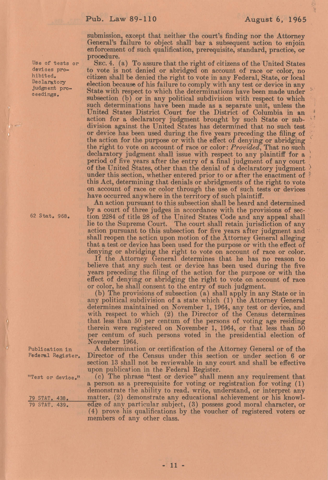 The Voting Rights Act of 1965, Page 11