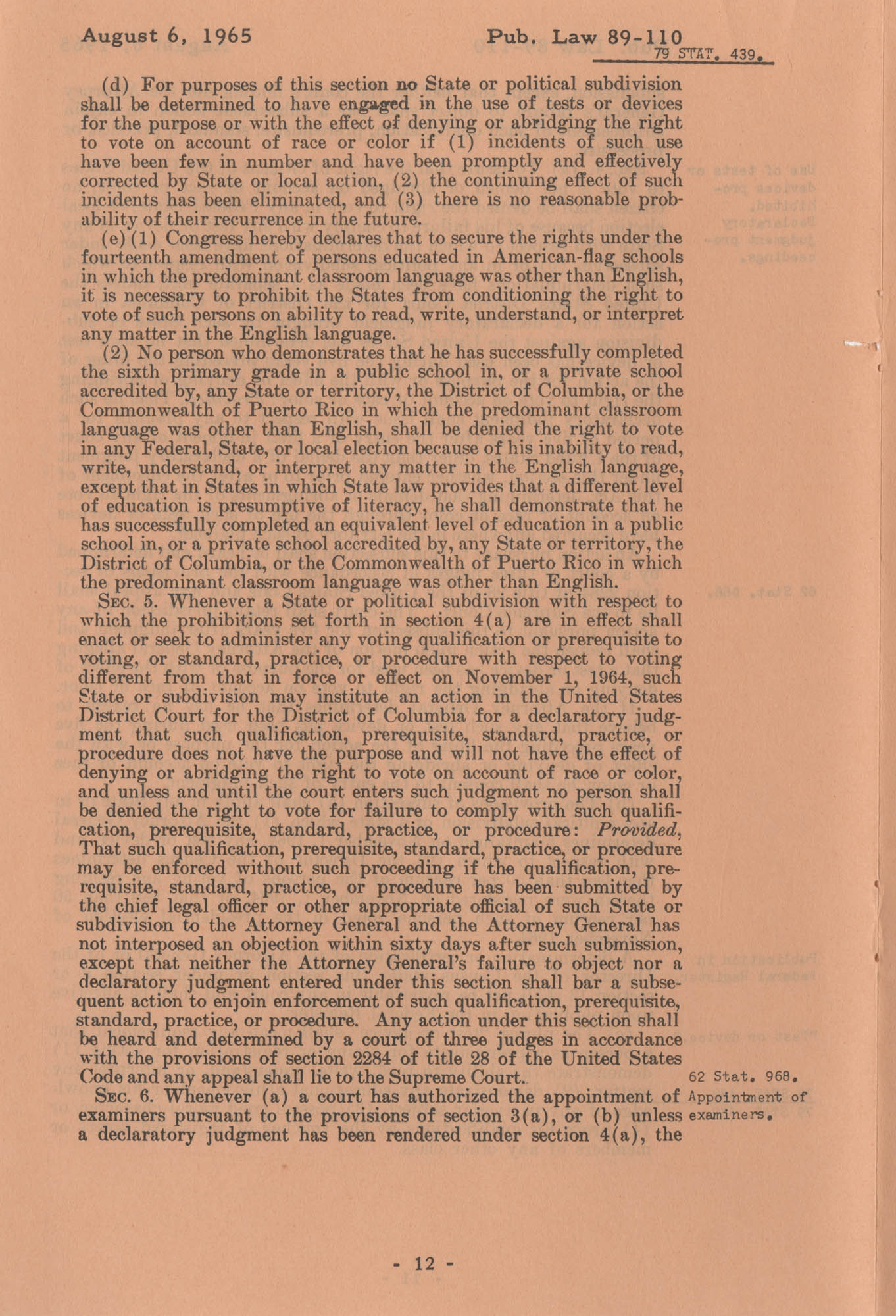 The Voting Rights Act of 1965, Page 12