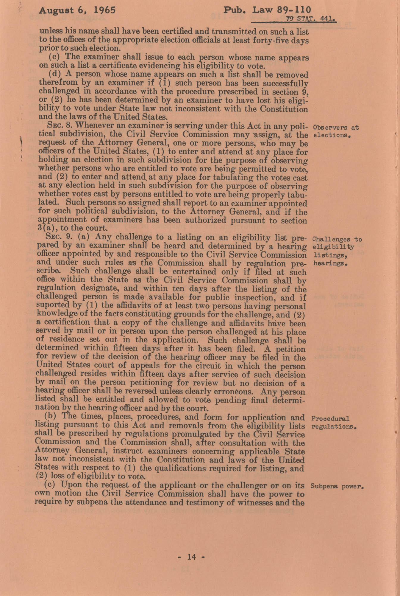 The Voting Rights Act of 1965, Page 14