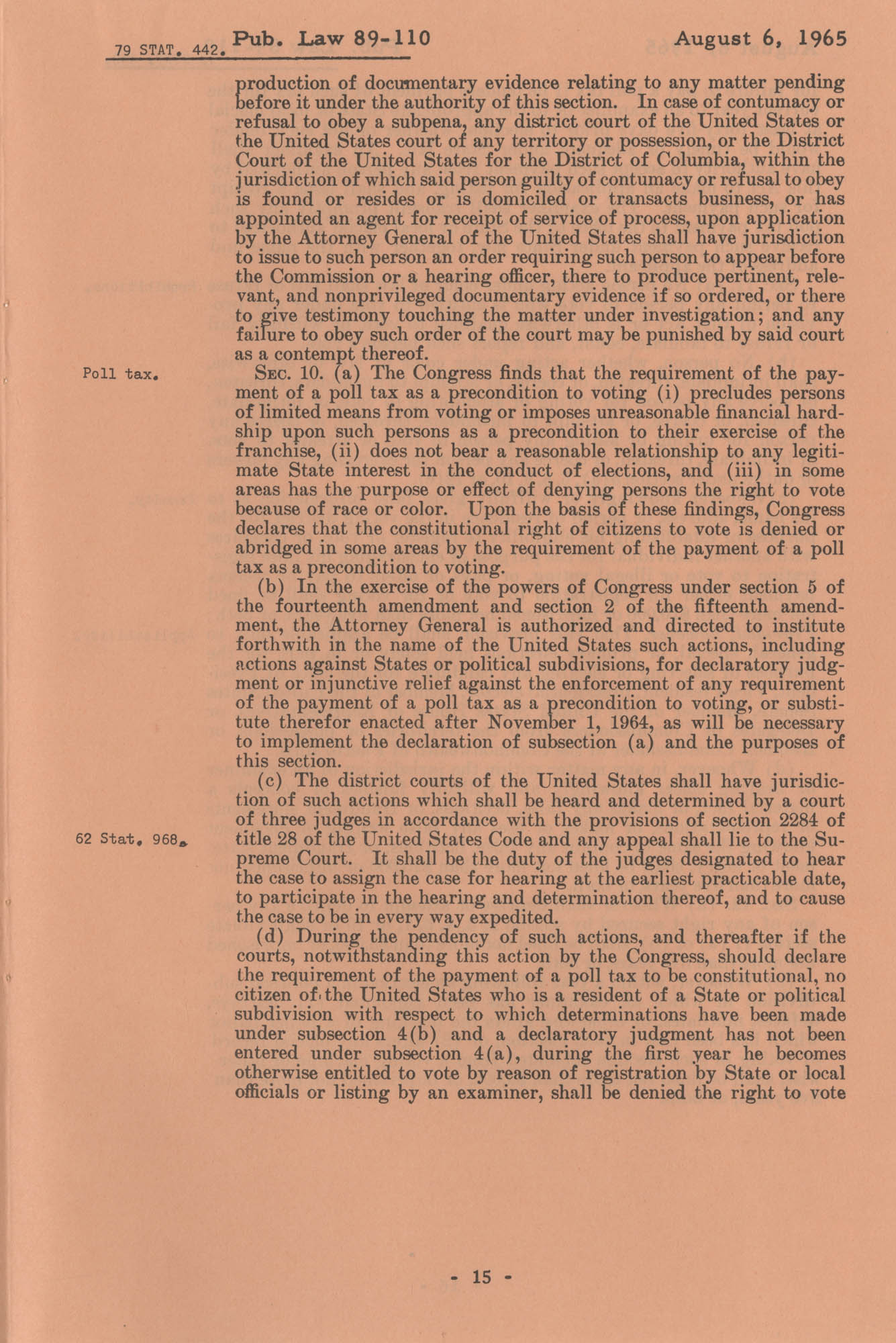 The Voting Rights Act of 1965, Page 15