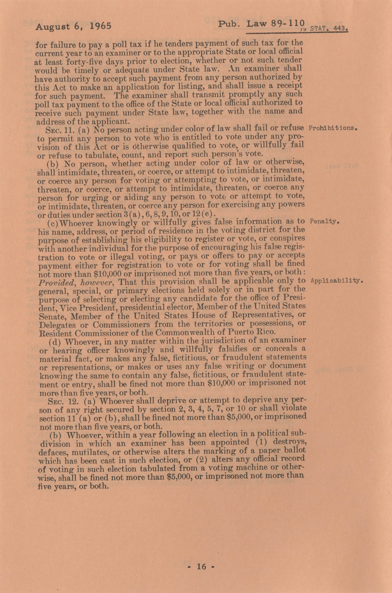 The Voting Rights Act of 1965, Page 16