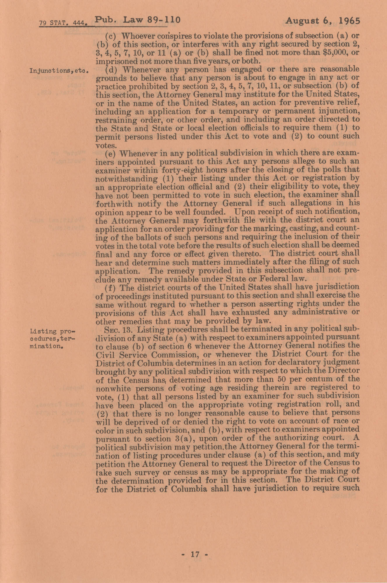 The Voting Rights Act of 1965, Page 17