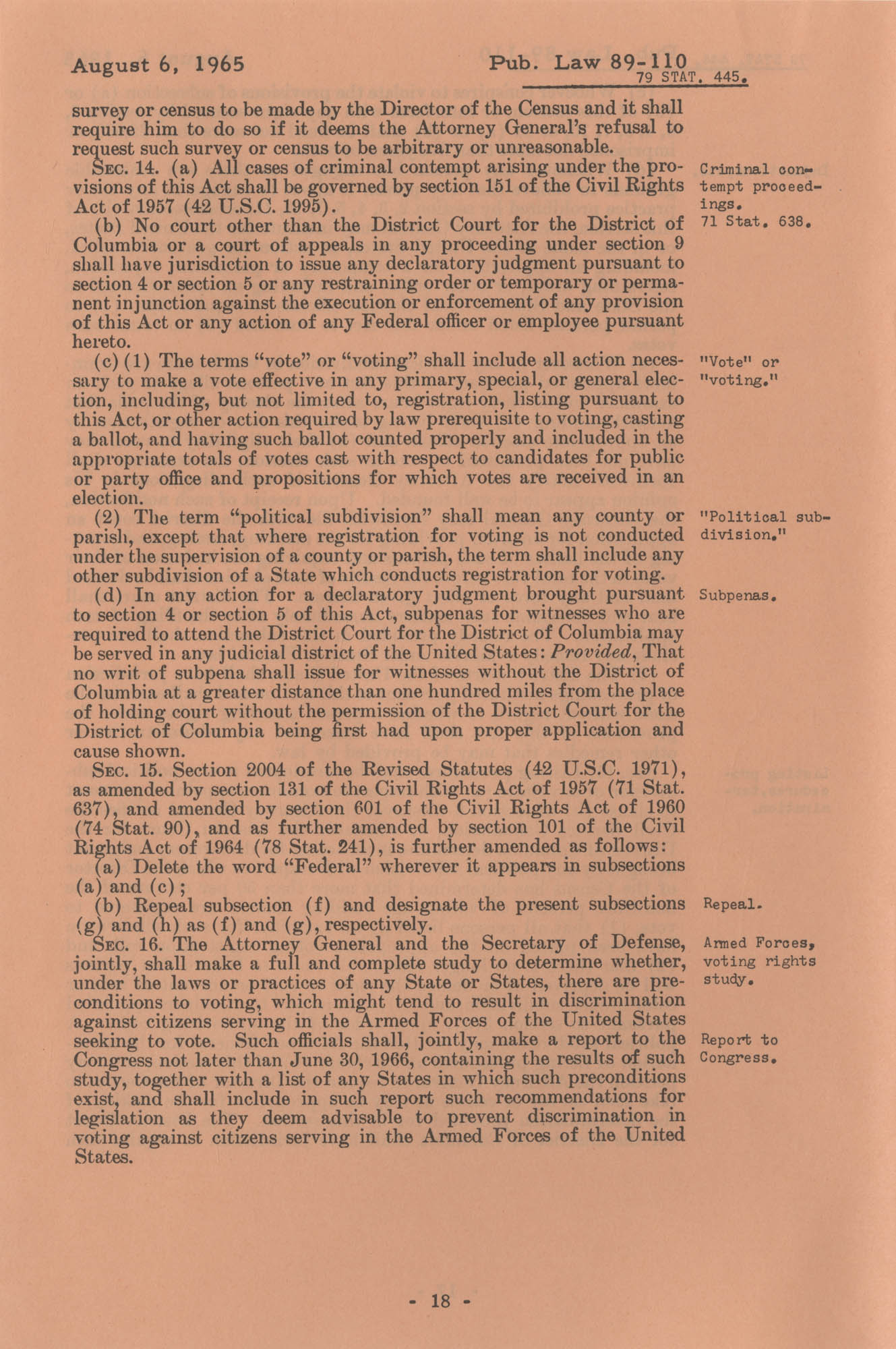 The Voting Rights Act of 1965, Page 18