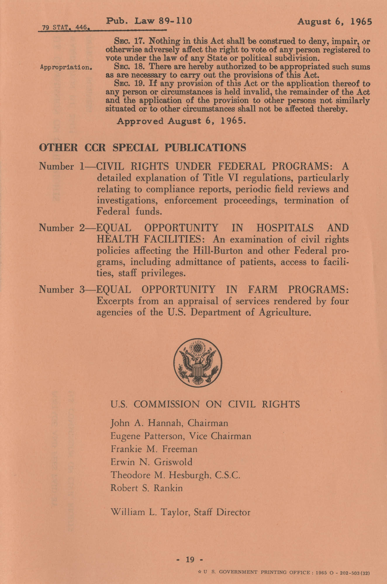 The Voting Rights Act of 1965, Page 19