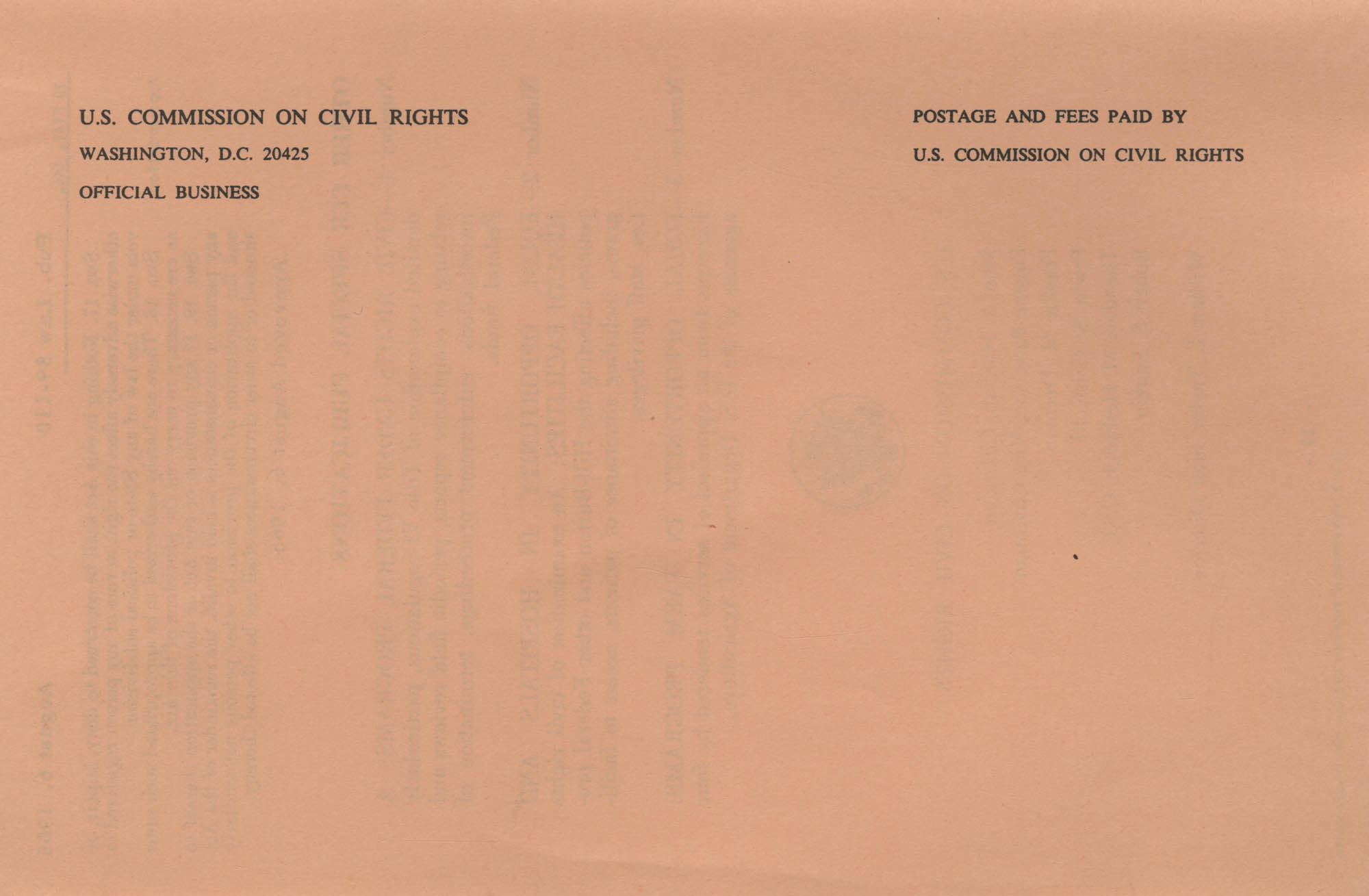 The Voting Rights Act of 1965, Back Cover