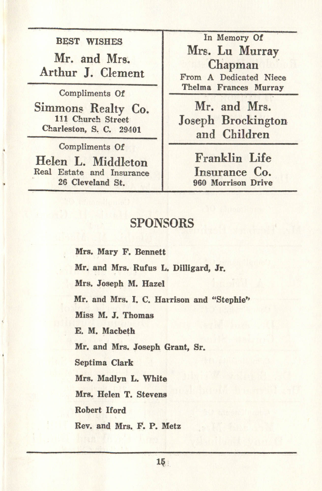 First Annual Martin Luther King, Jr. Birthday Celebration, Page 15