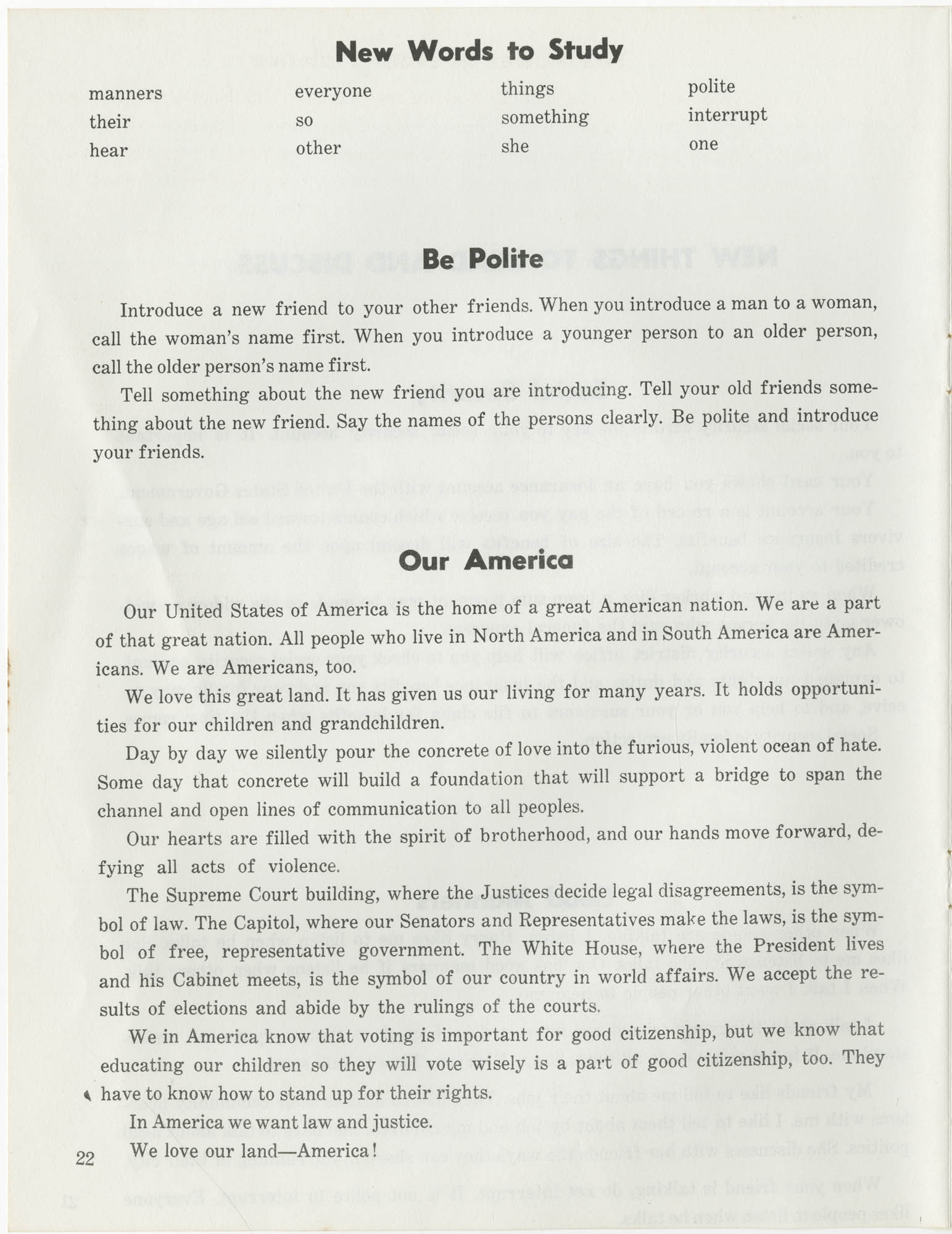 Southern Christian Leadership Conference Citizenship School Workbook, Page 22