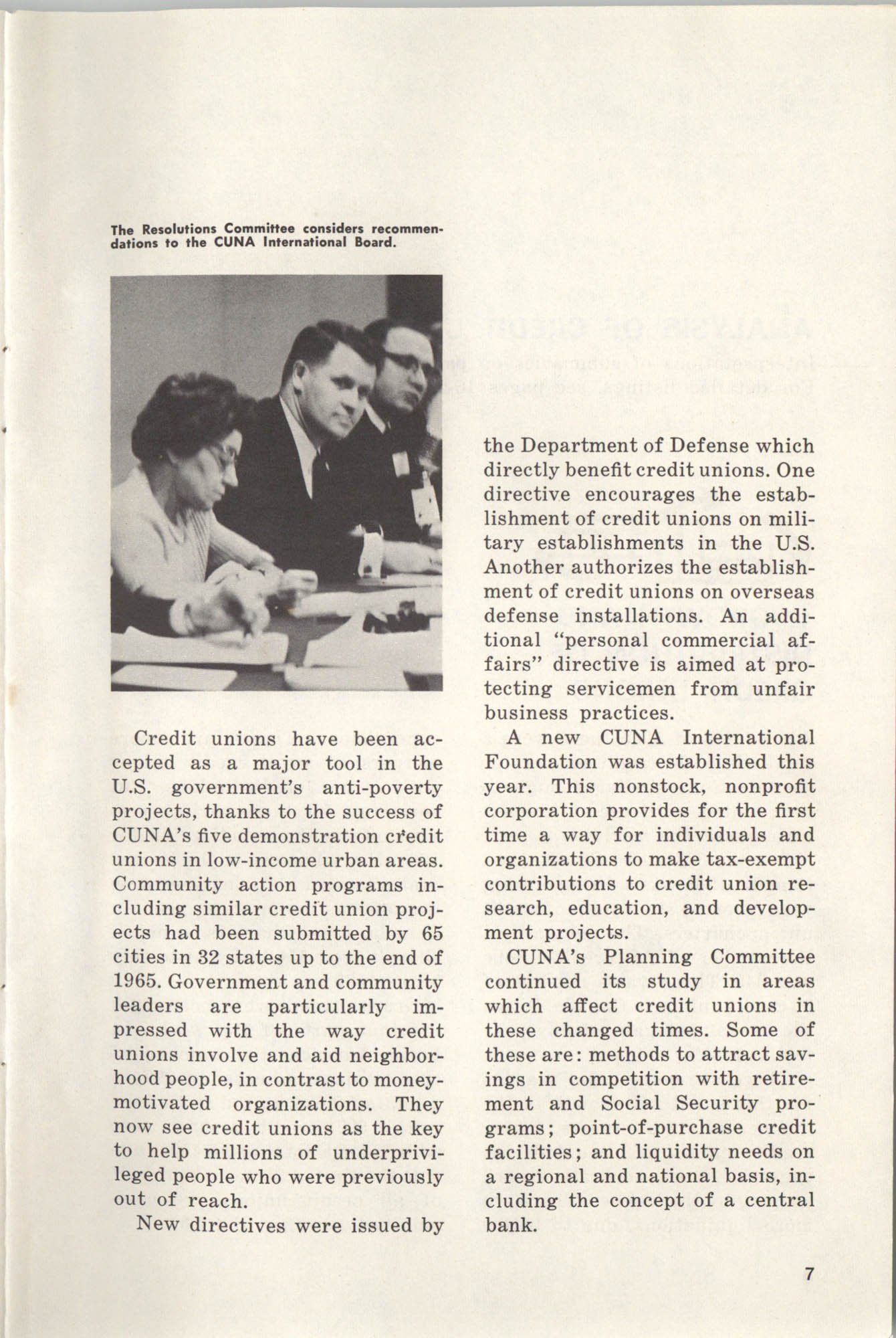 International Credit Union Yearbook, Page 7
