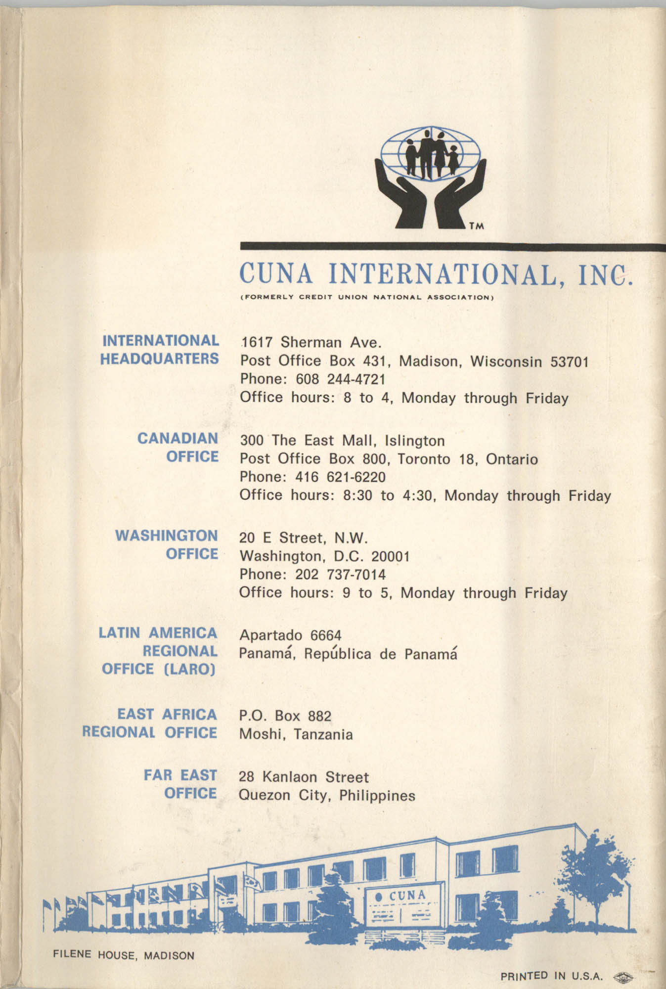 International Credit Union Yearbook, Back Cover Exterior