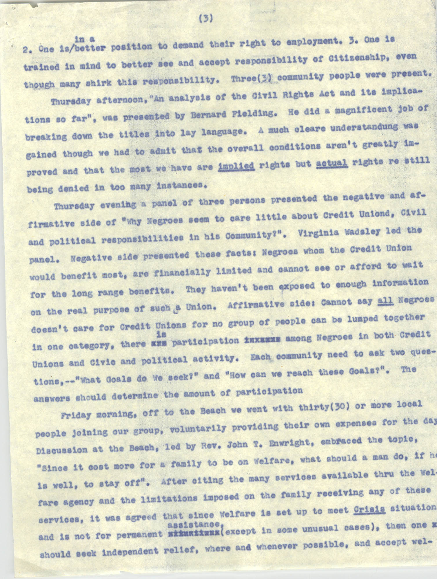Report on Southwide Voter Education Workshop, 1966, Page 3