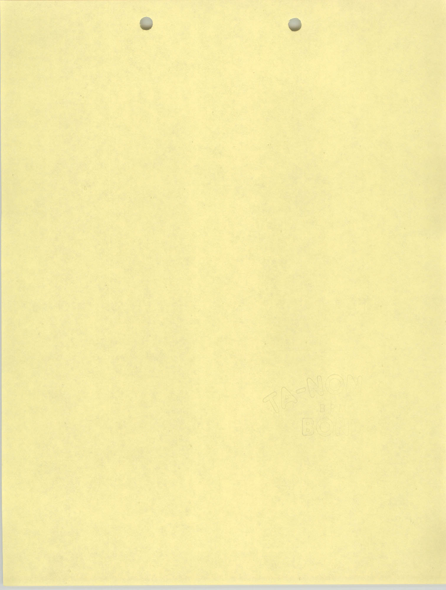 Blank Yellow Page