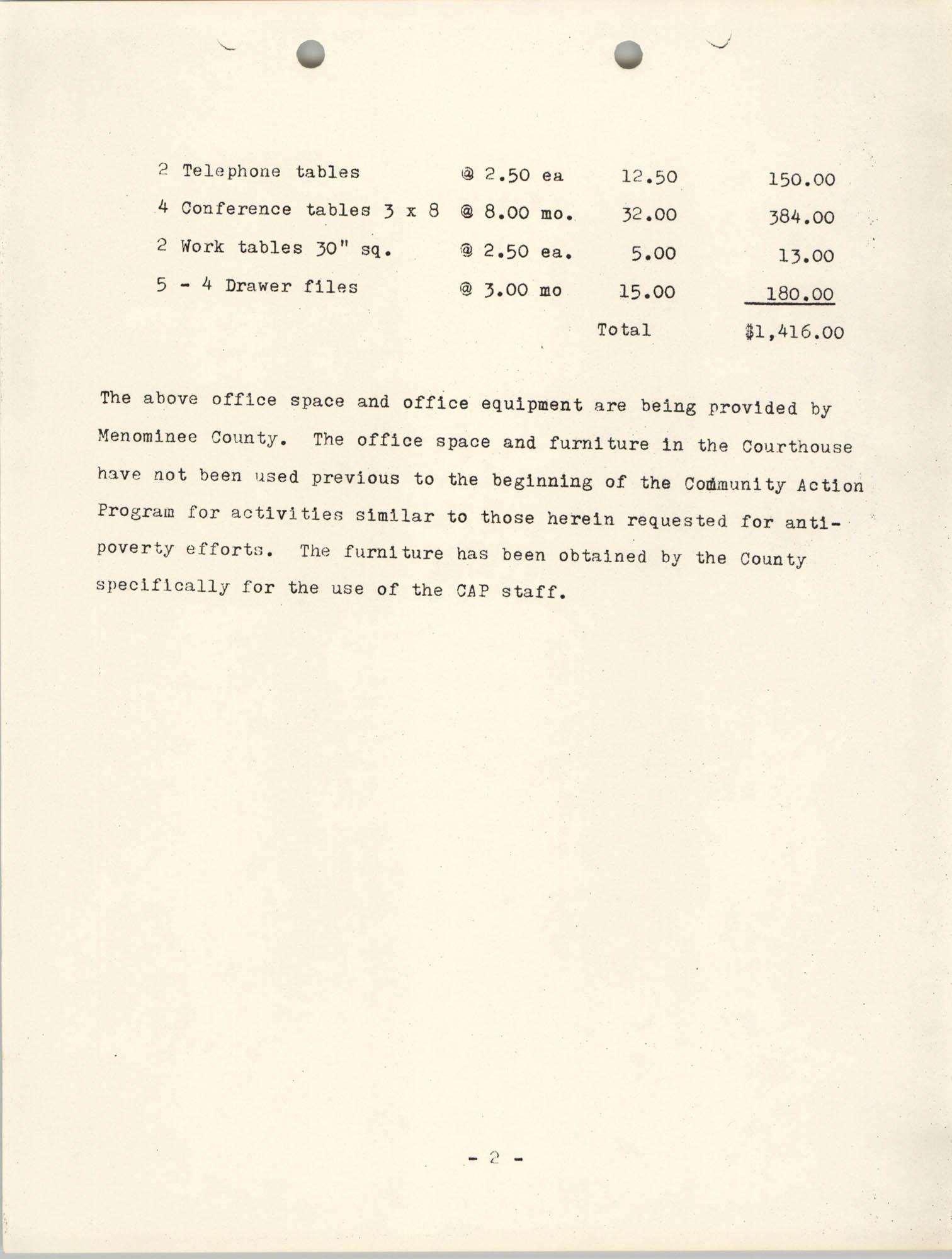 CAP Grant Materials, CAP 2 Program Characteristics, Page 3