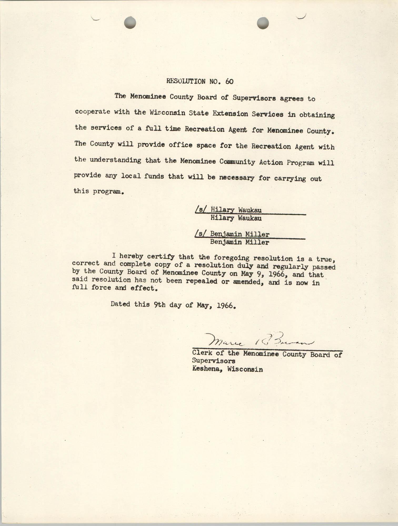 Resolution No. 60
