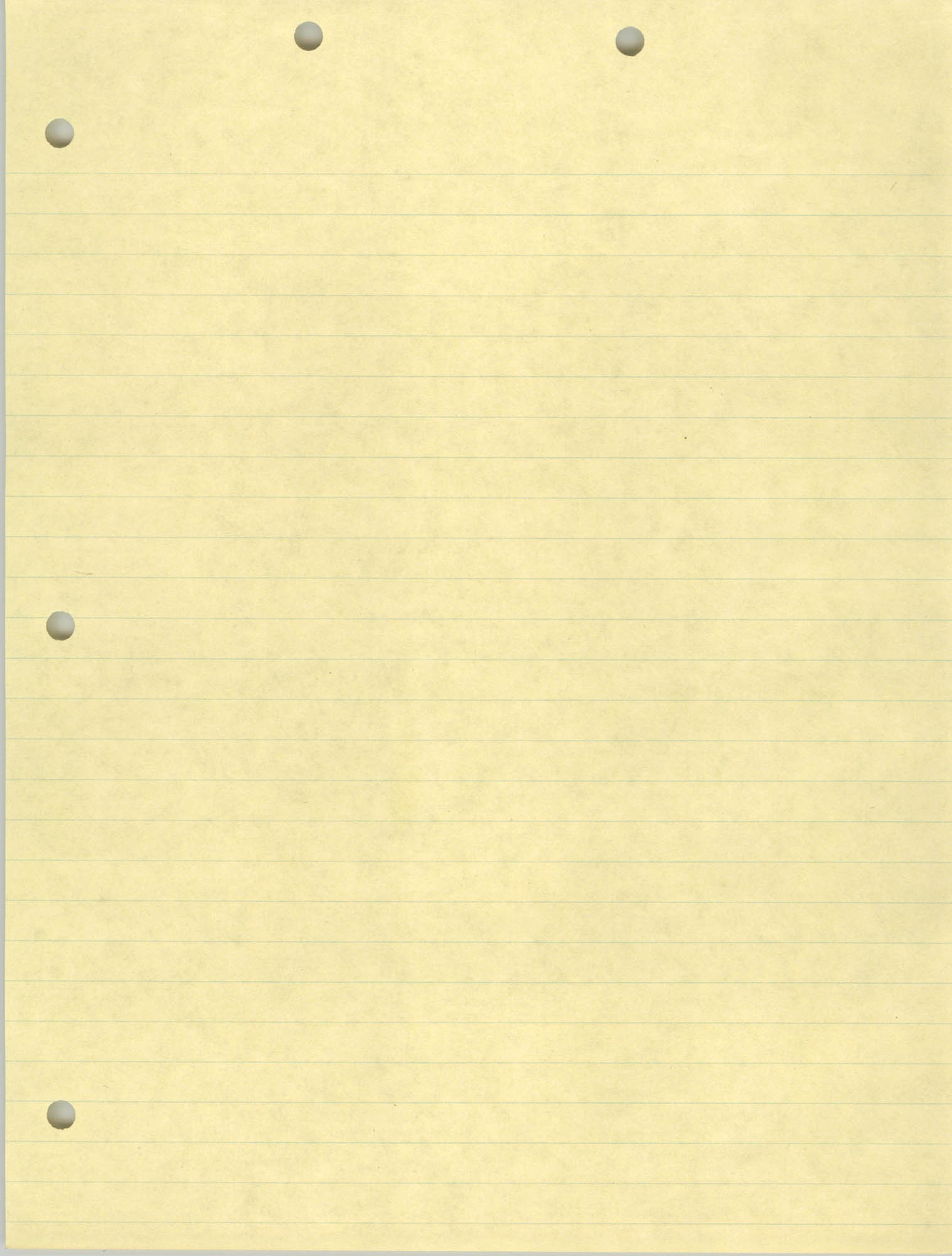 Blank Legal Pad Page