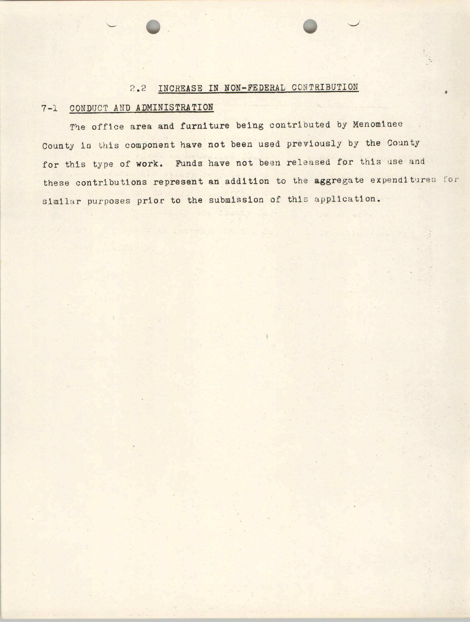 Increase in Non-Fedearl Contribution, June 27, 1966, Page 2