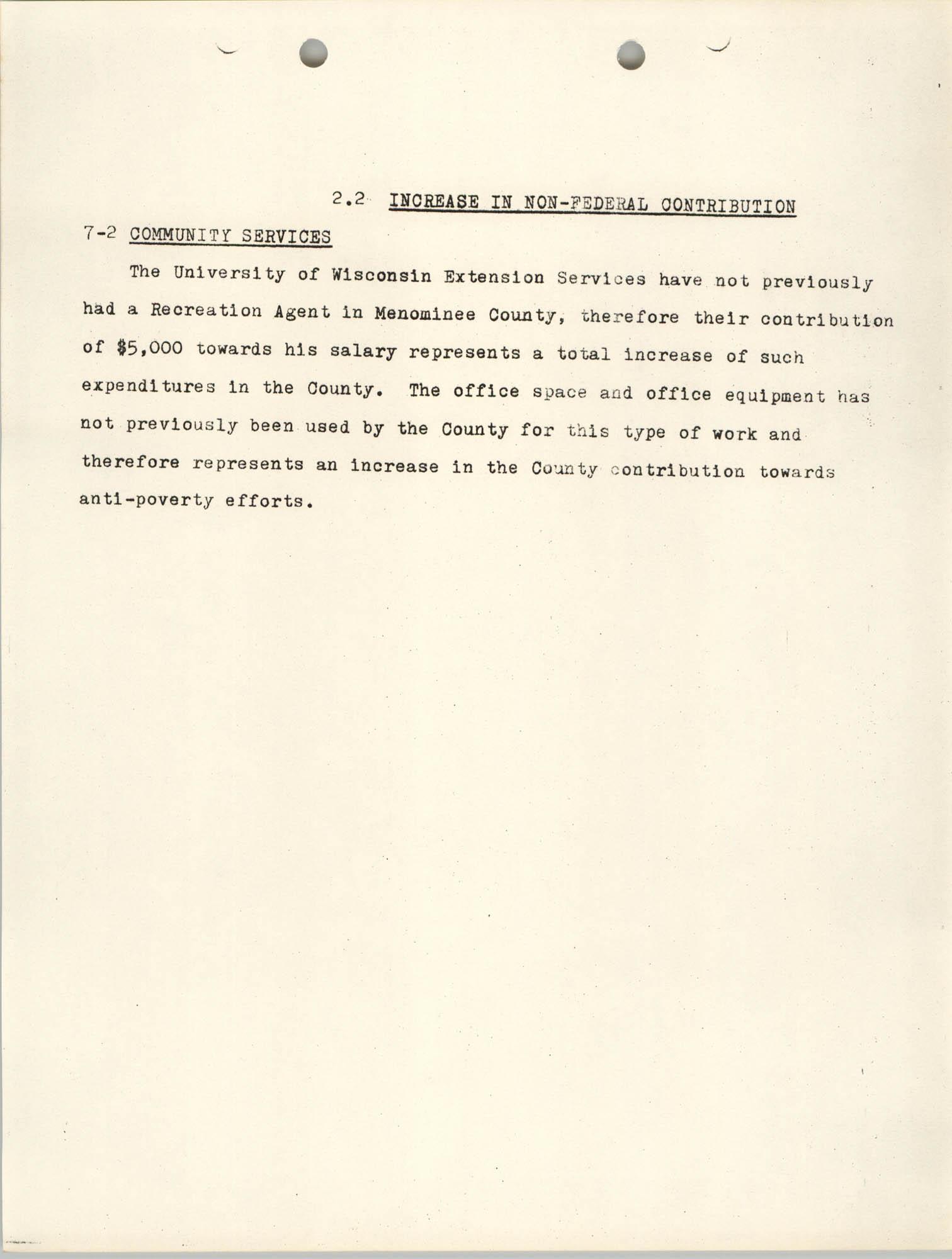 Increase in Non-Fedearl Contribution, June 27, 1966, Page 3