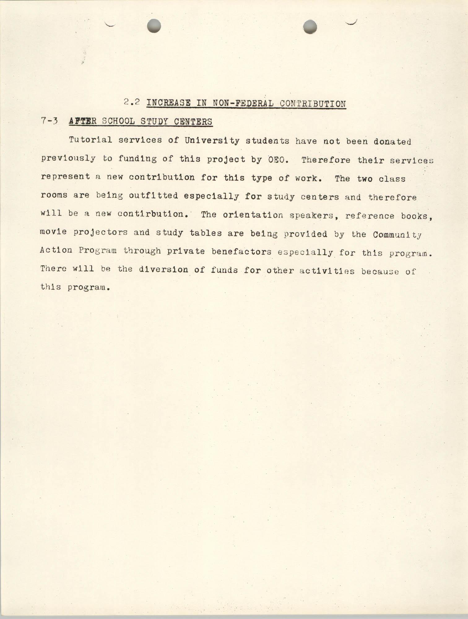 Increase in Non-Fedearl Contribution, June 27, 1966, Page 4