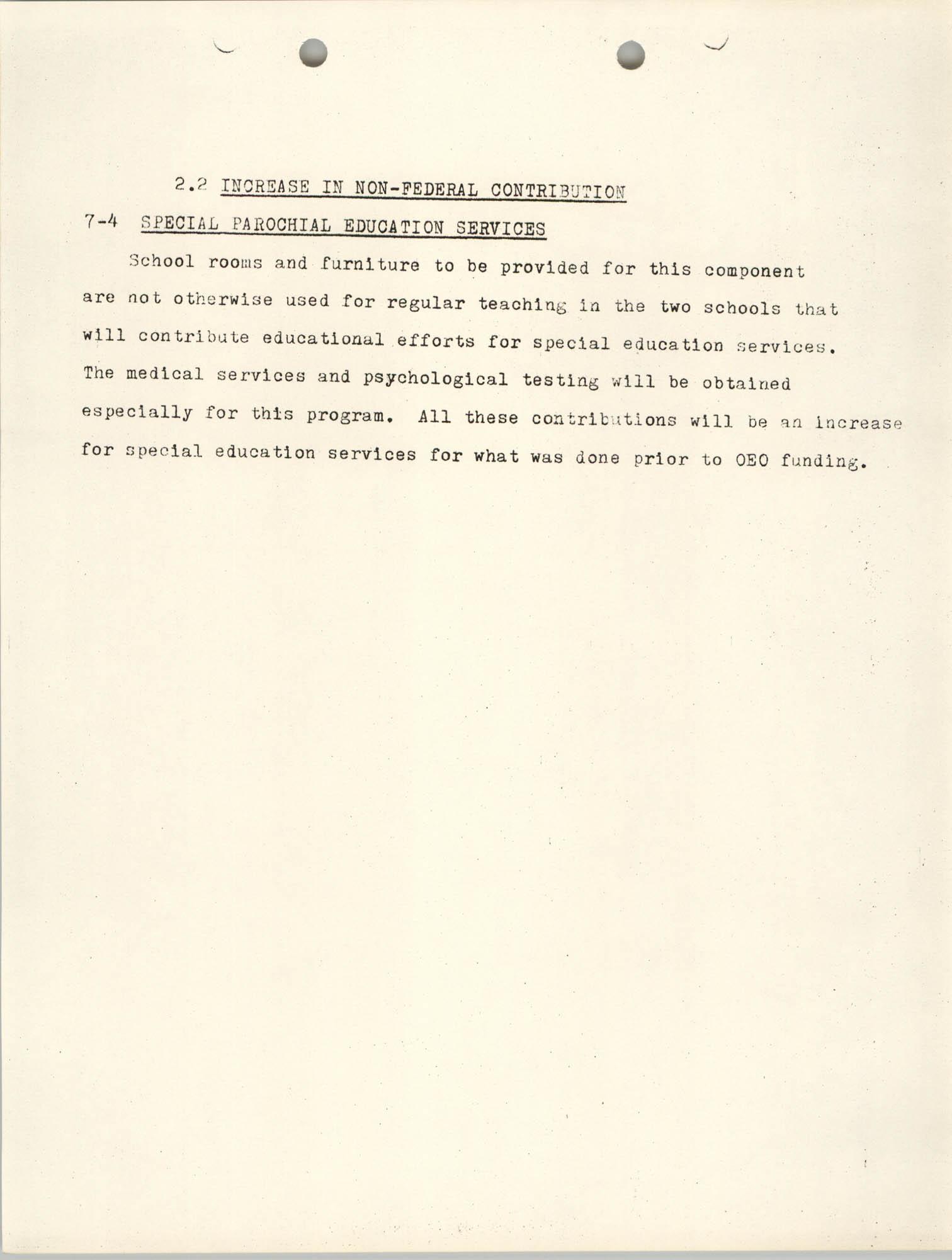 Increase in Non-Fedearl Contribution, June 27, 1966, Page 5
