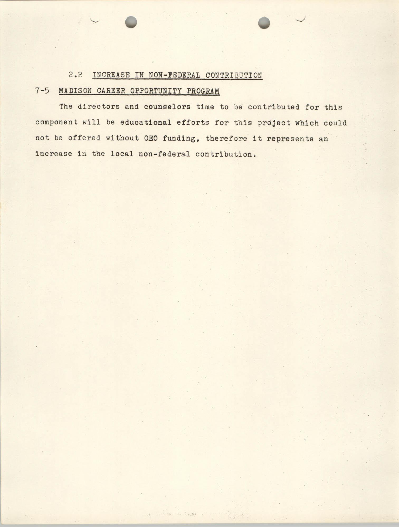 Increase in Non-Fedearl Contribution, June 27, 1966, Page 6