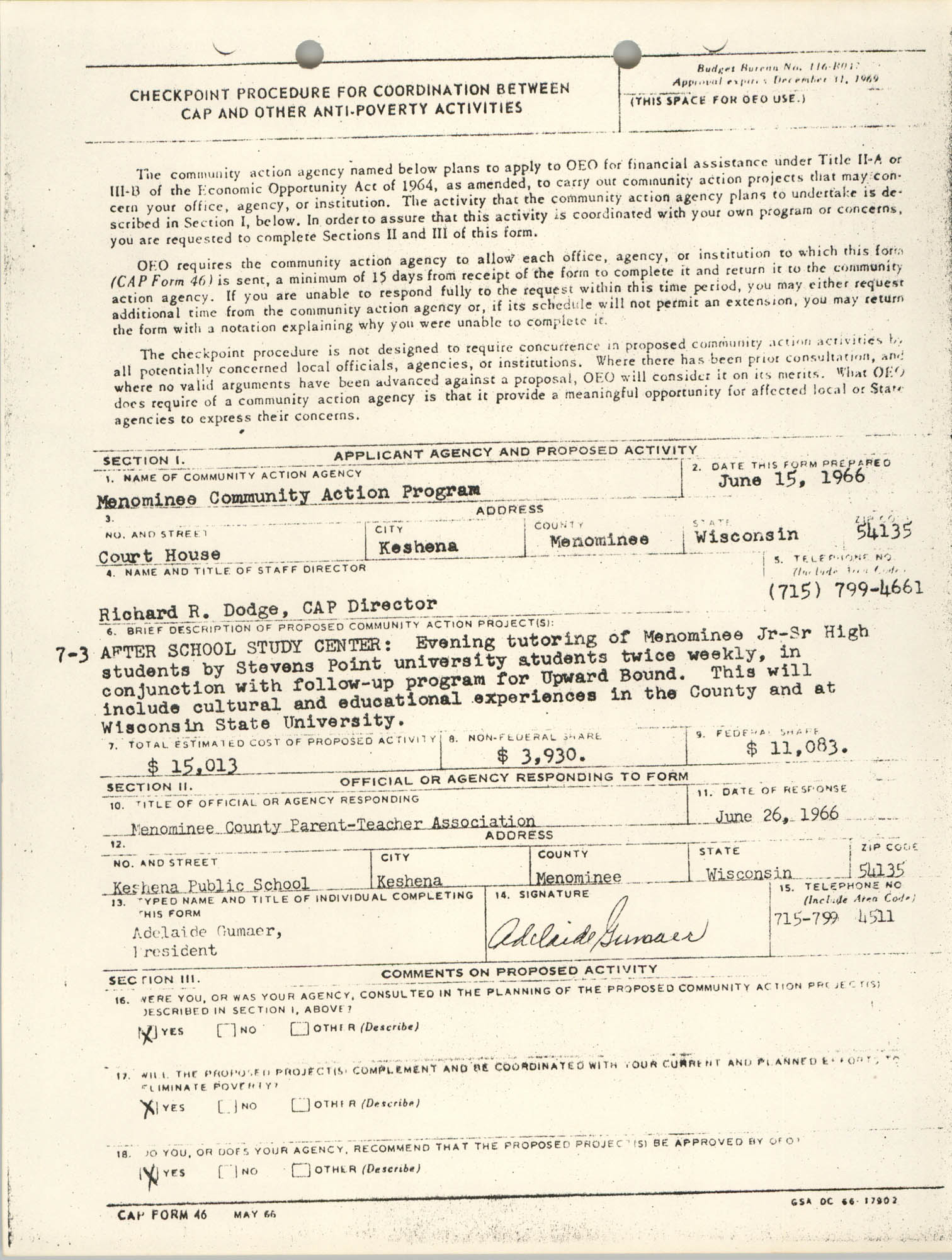 Checkpoint Procedure for Coordination, June 15, 1966, Page 7