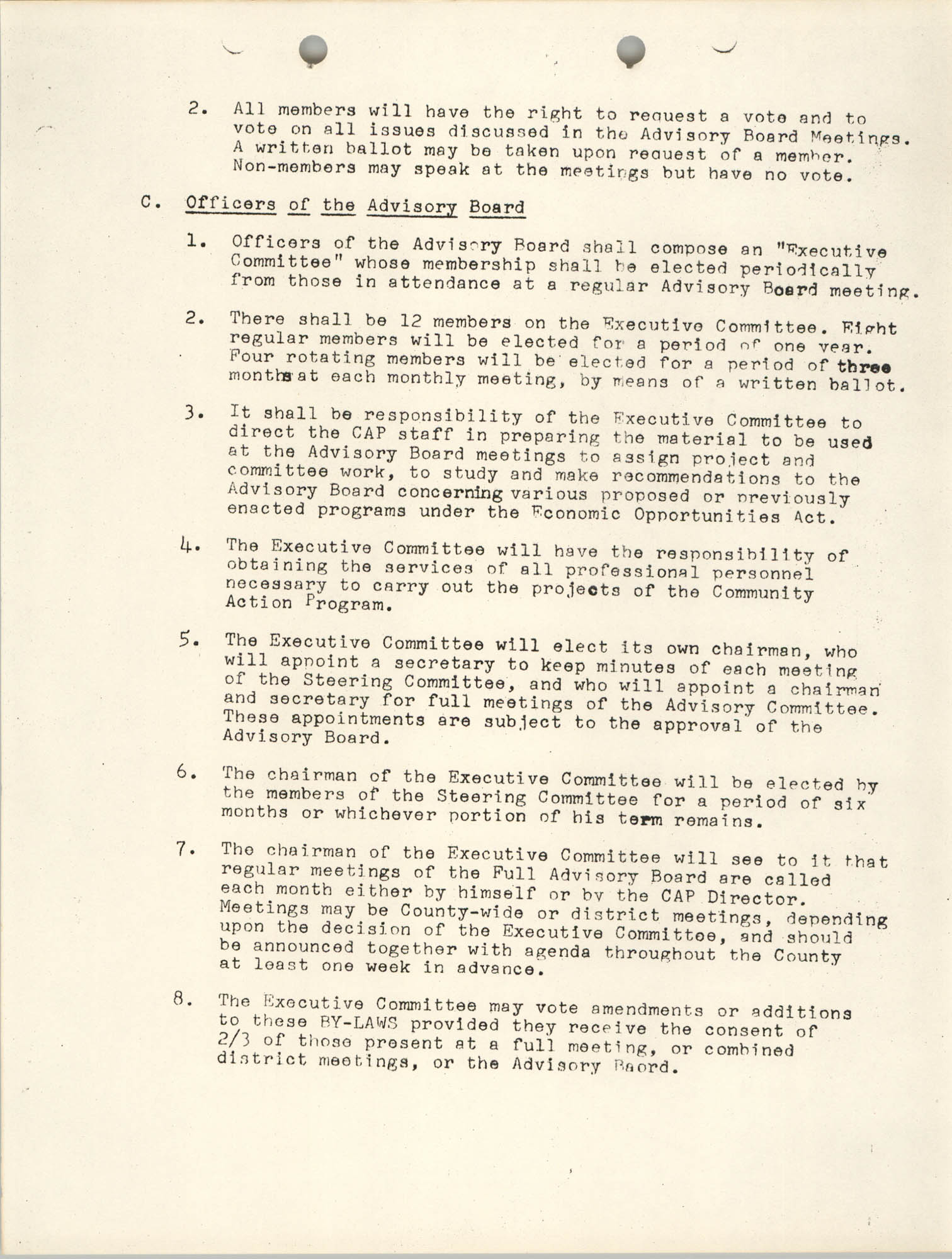 By-Laws of the Advisory Board, Page 2