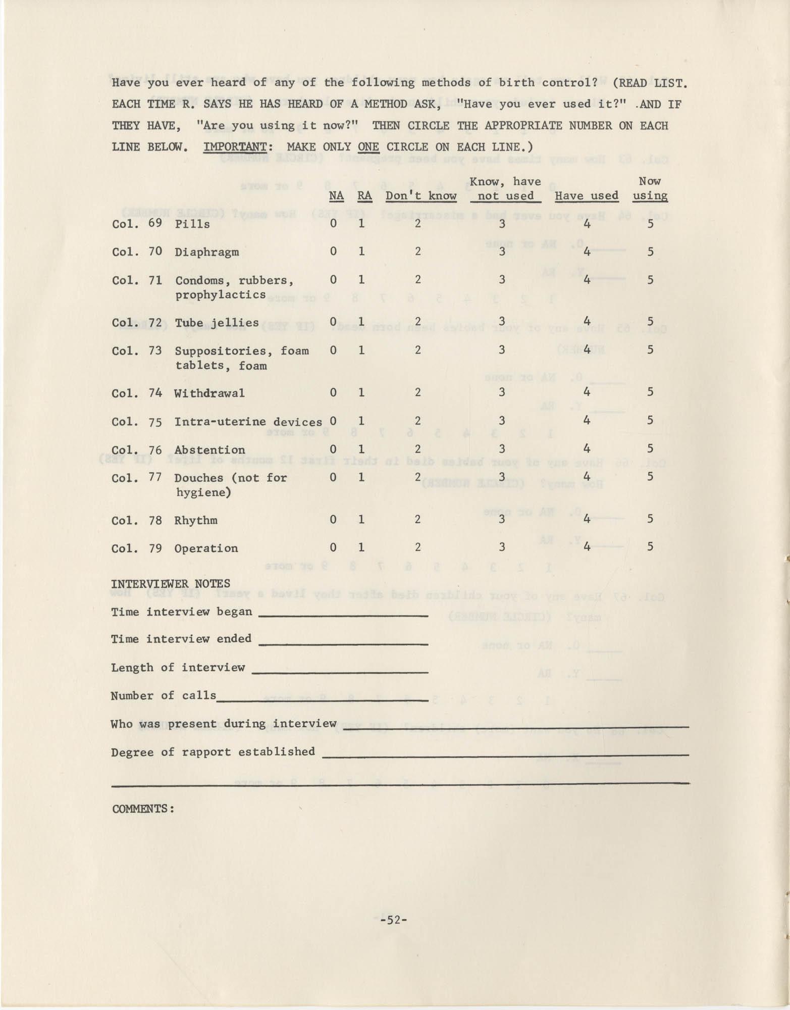 North Carolina Socio-Economic Survey, Page 52