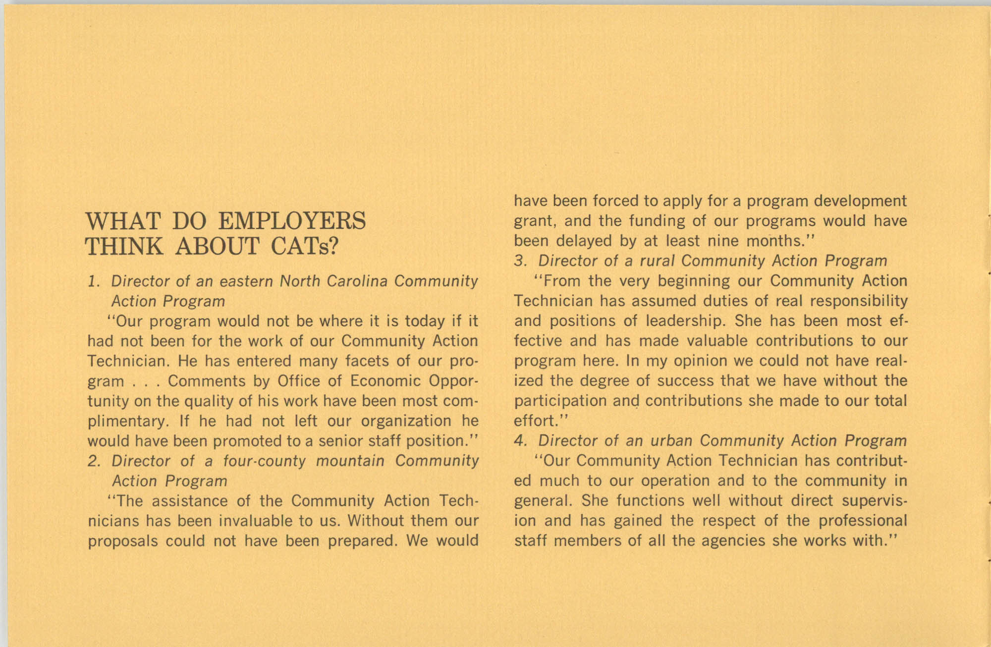 Community Action Technician Training Program, Page 1