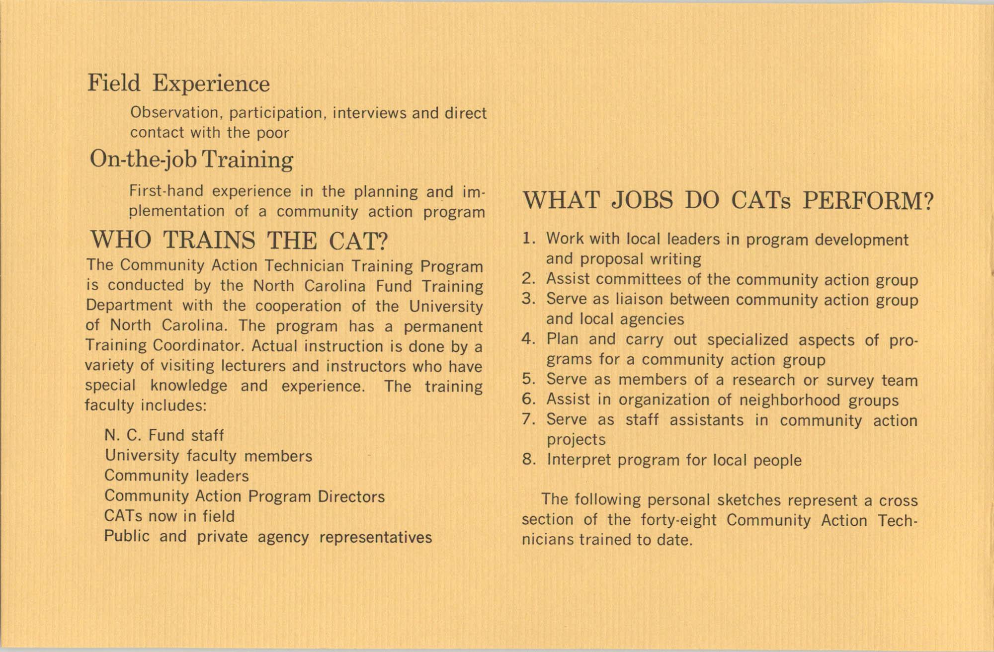 Community Action Technician Training Program, Page 6