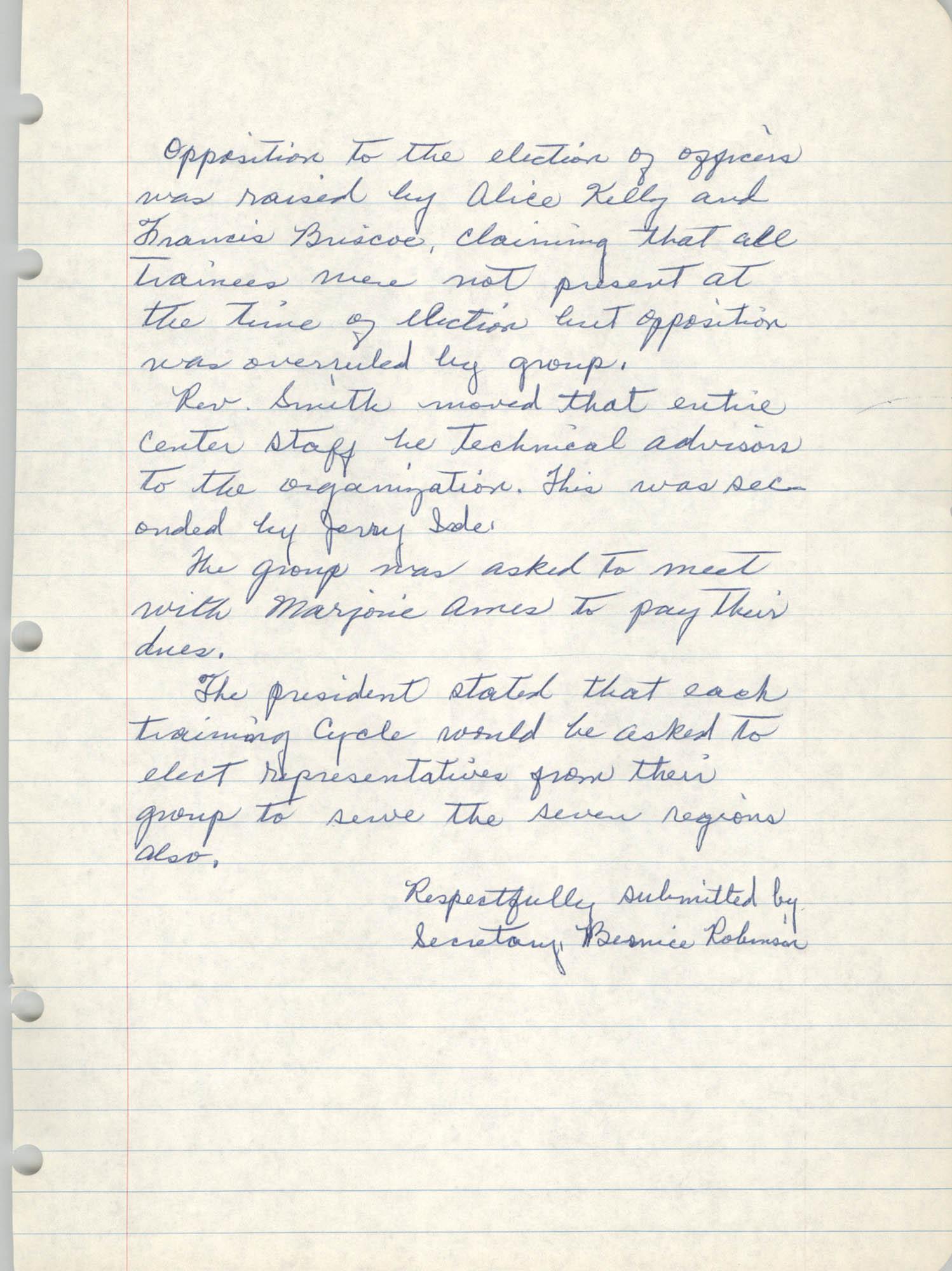 Community Action Technicians Alumni Association Notes, Page 4