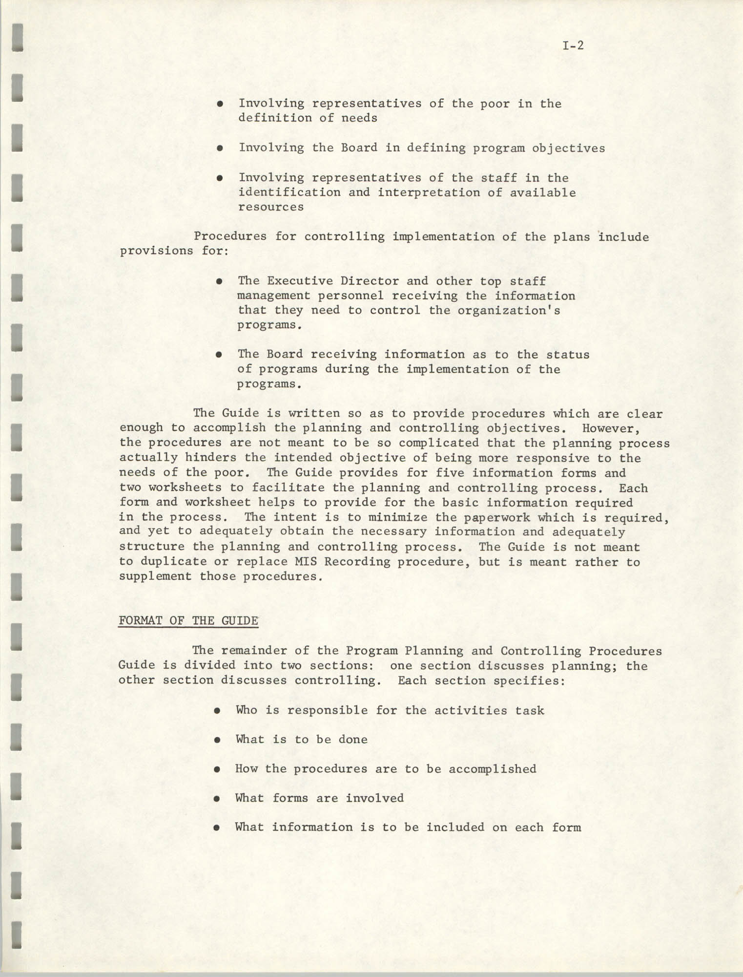 Program Planning and Control Procedures Guide for South Carolina Commission for Farm Workers, Inc., Page I-2