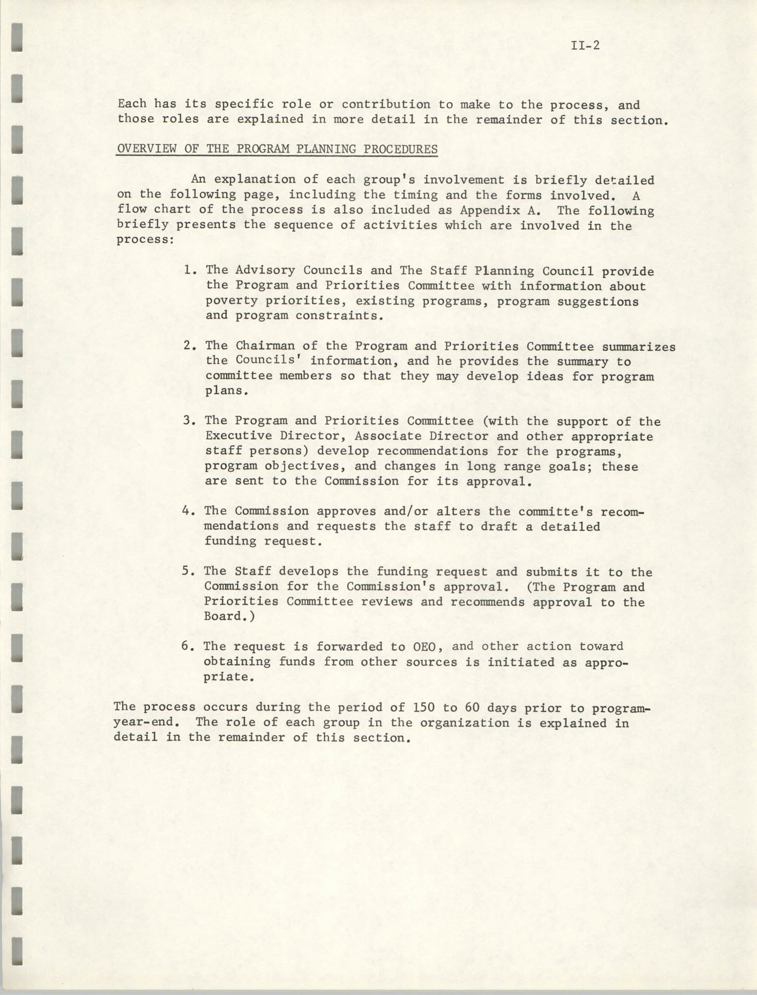 Program Planning and Control Procedures Guide for South Carolina Commission for Farm Workers, Inc., Page II-2