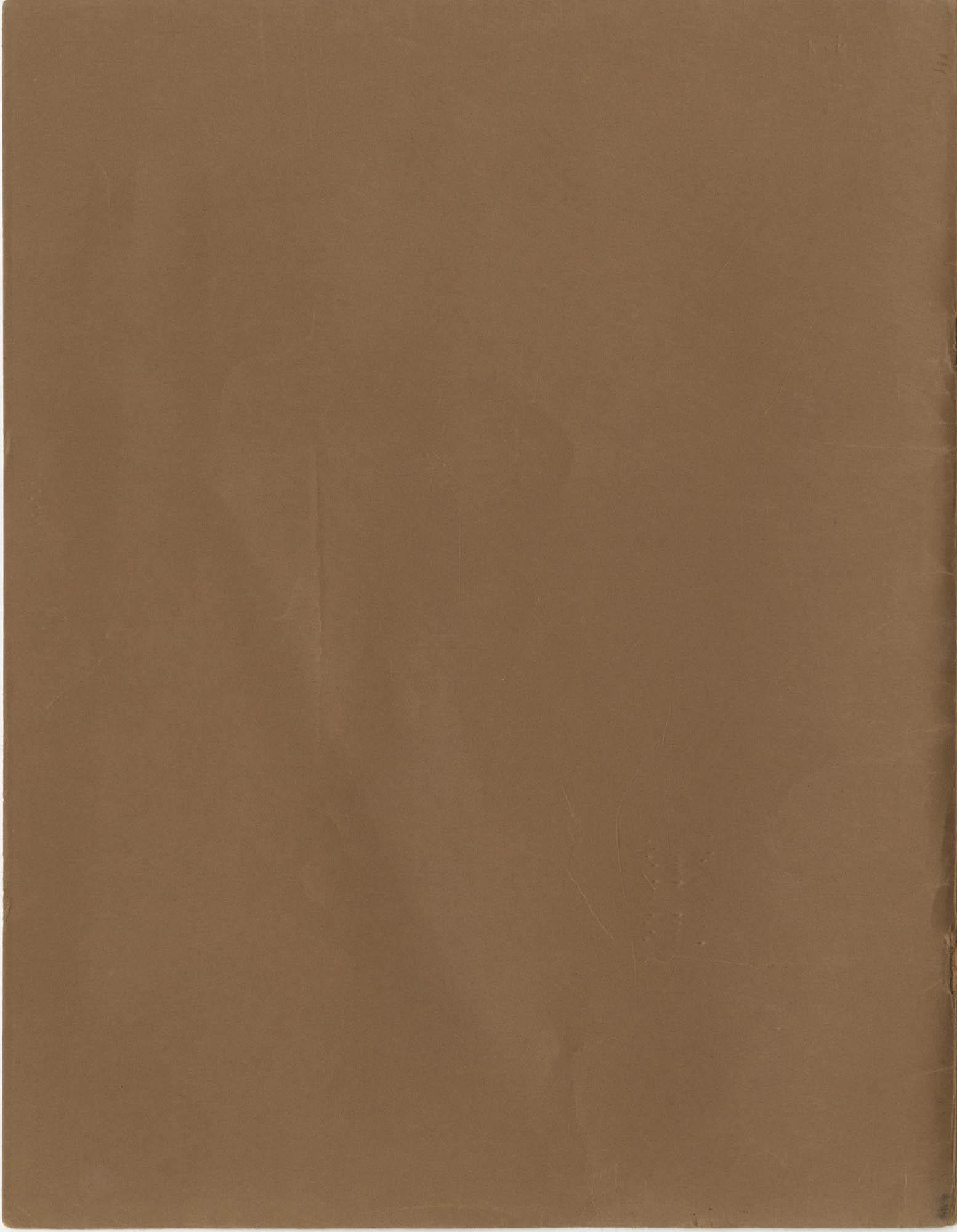 Vista Volunteer Handbook, April 1970, Back Cover Exterior