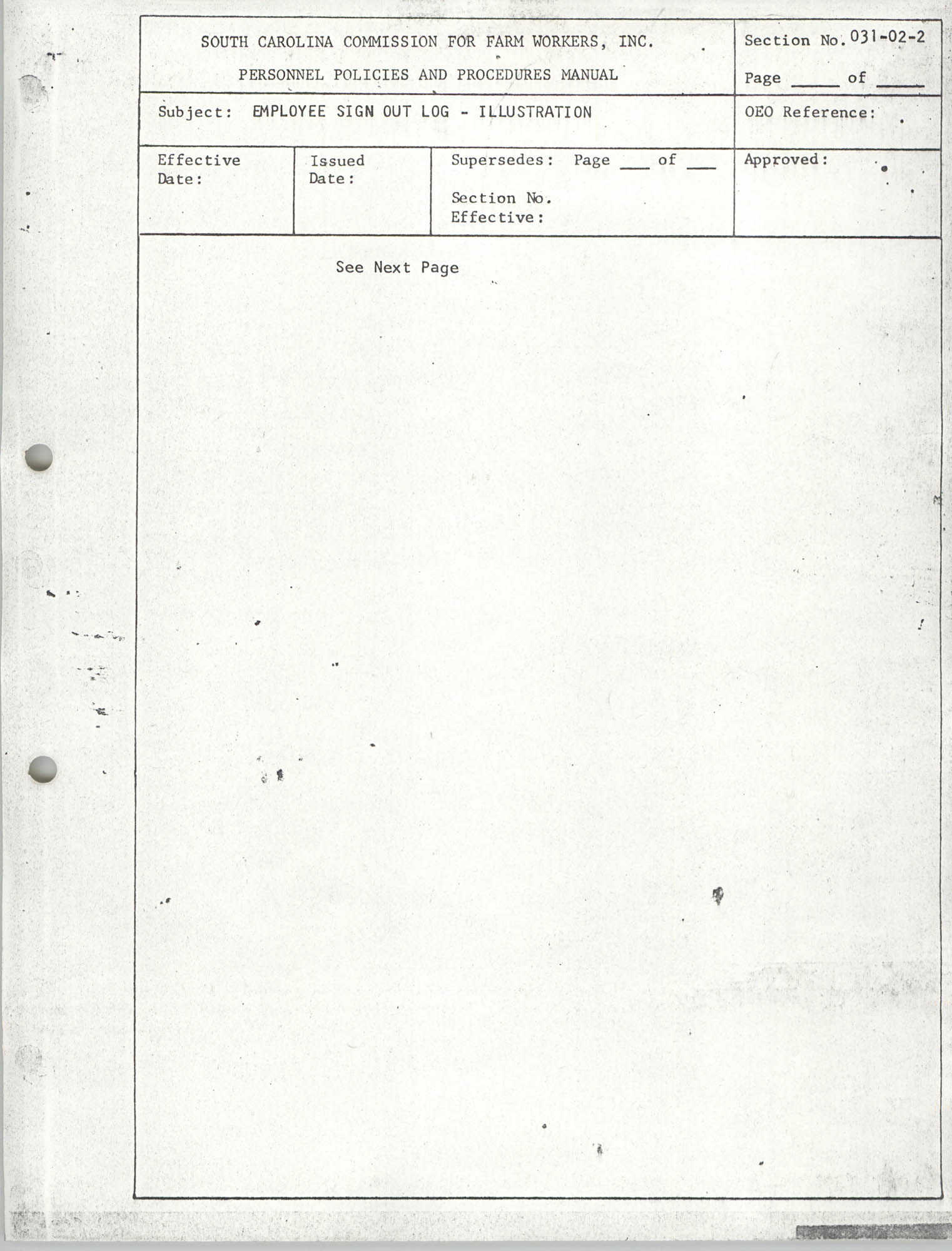 Personnel Policies and Procedures Manual, Section No. 031-02-2