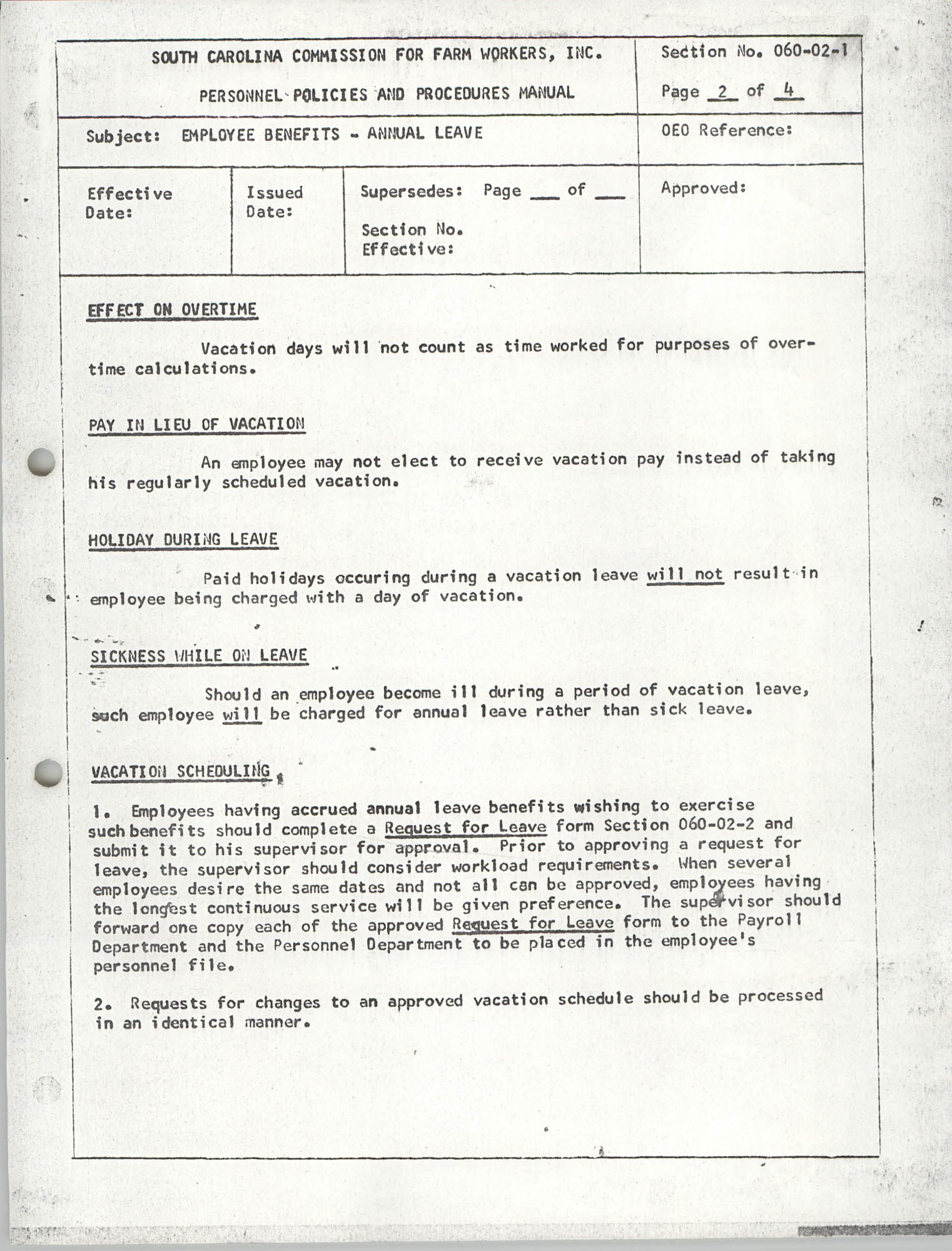 Personnel Policies and Procedures Manual, Section No. 060-02-1, Page 2