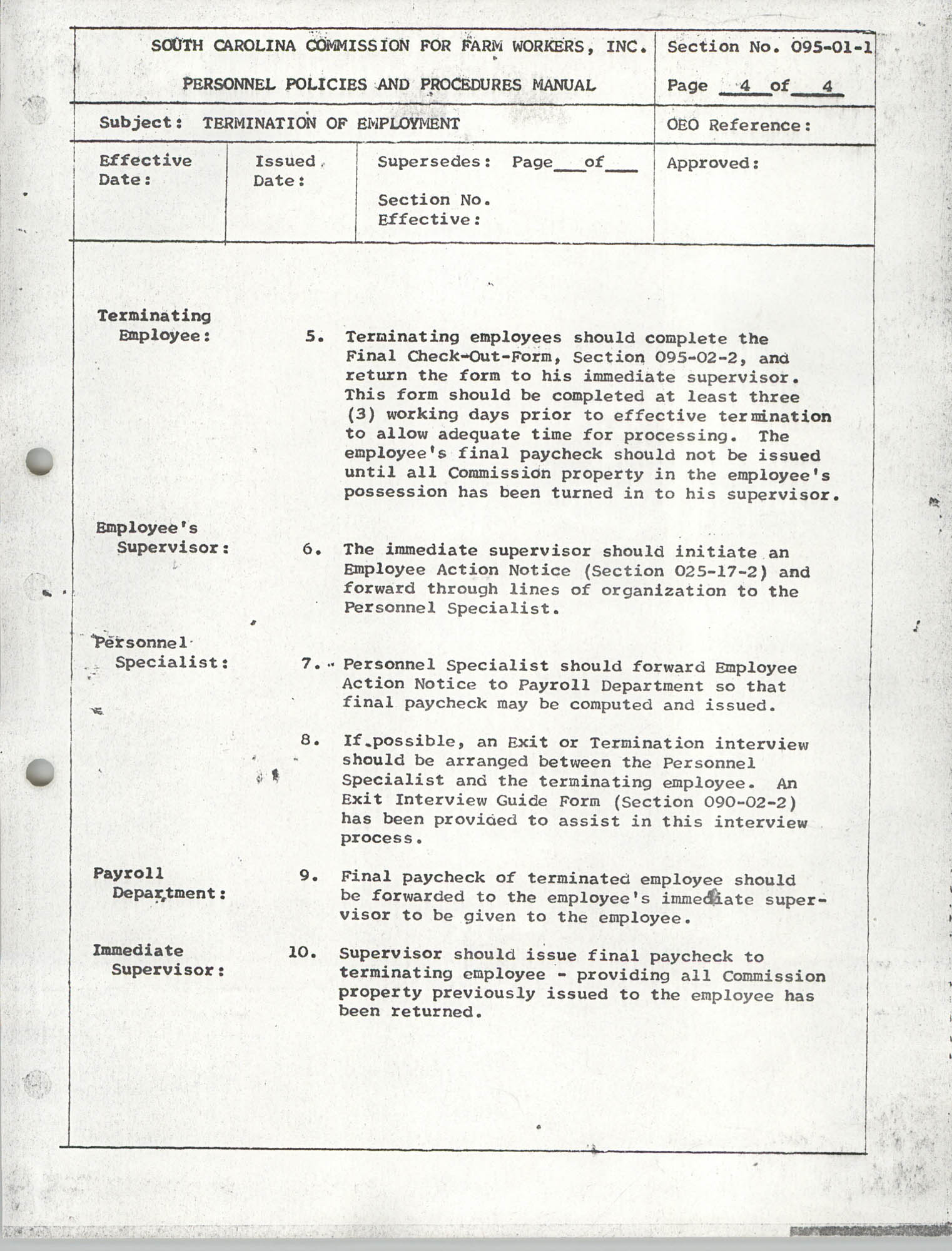 Personnel Policies and Procedures Manual, Section No. 095-01-1, Page 4