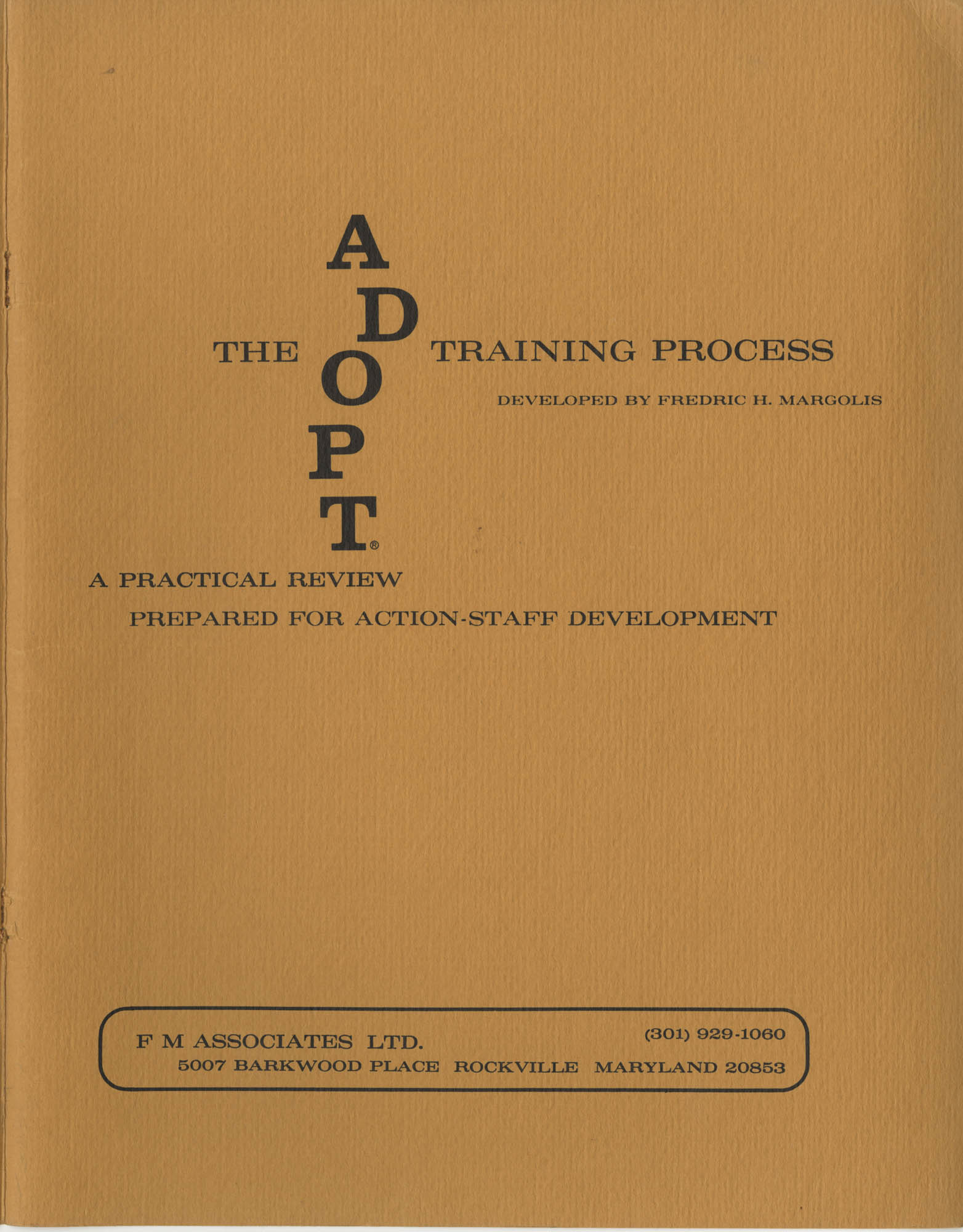 ADOPT Training Process, Front Cover Exterior
