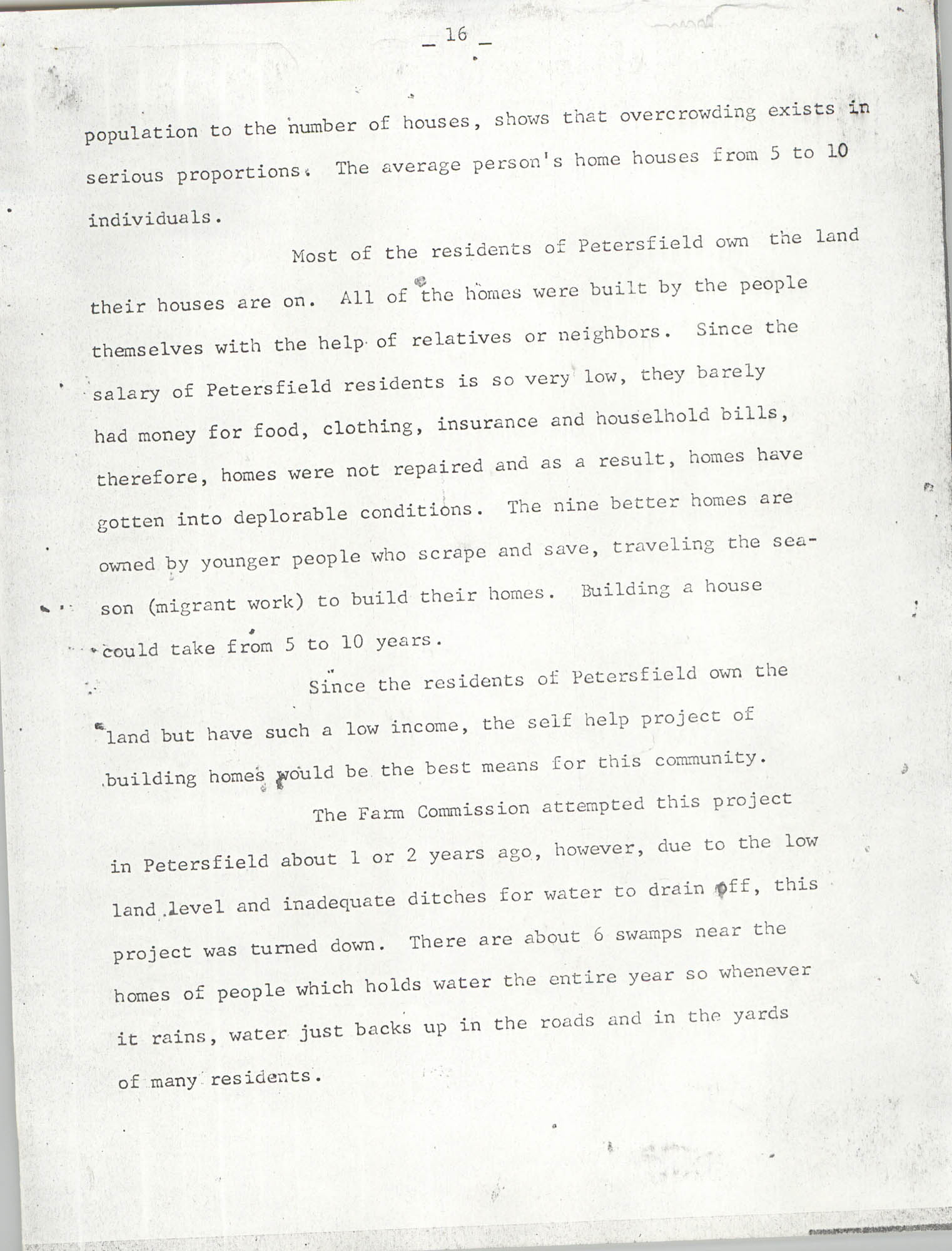Report on Petersfield, South Carolina, Page 16