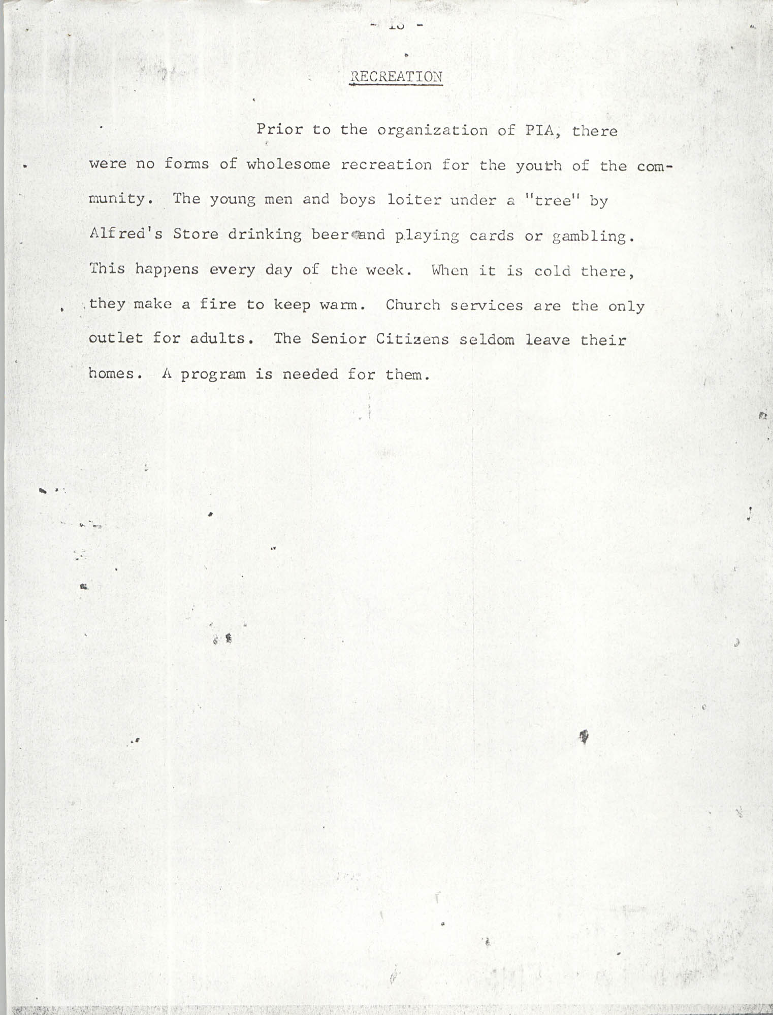 Report on Petersfield, South Carolina, Page 18