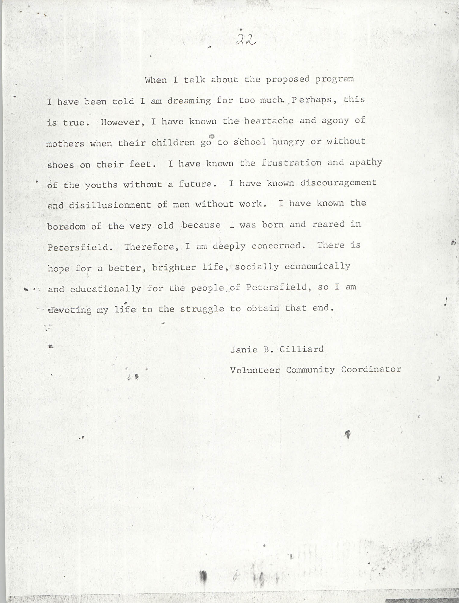 Report on Petersfield, South Carolina, Page 22