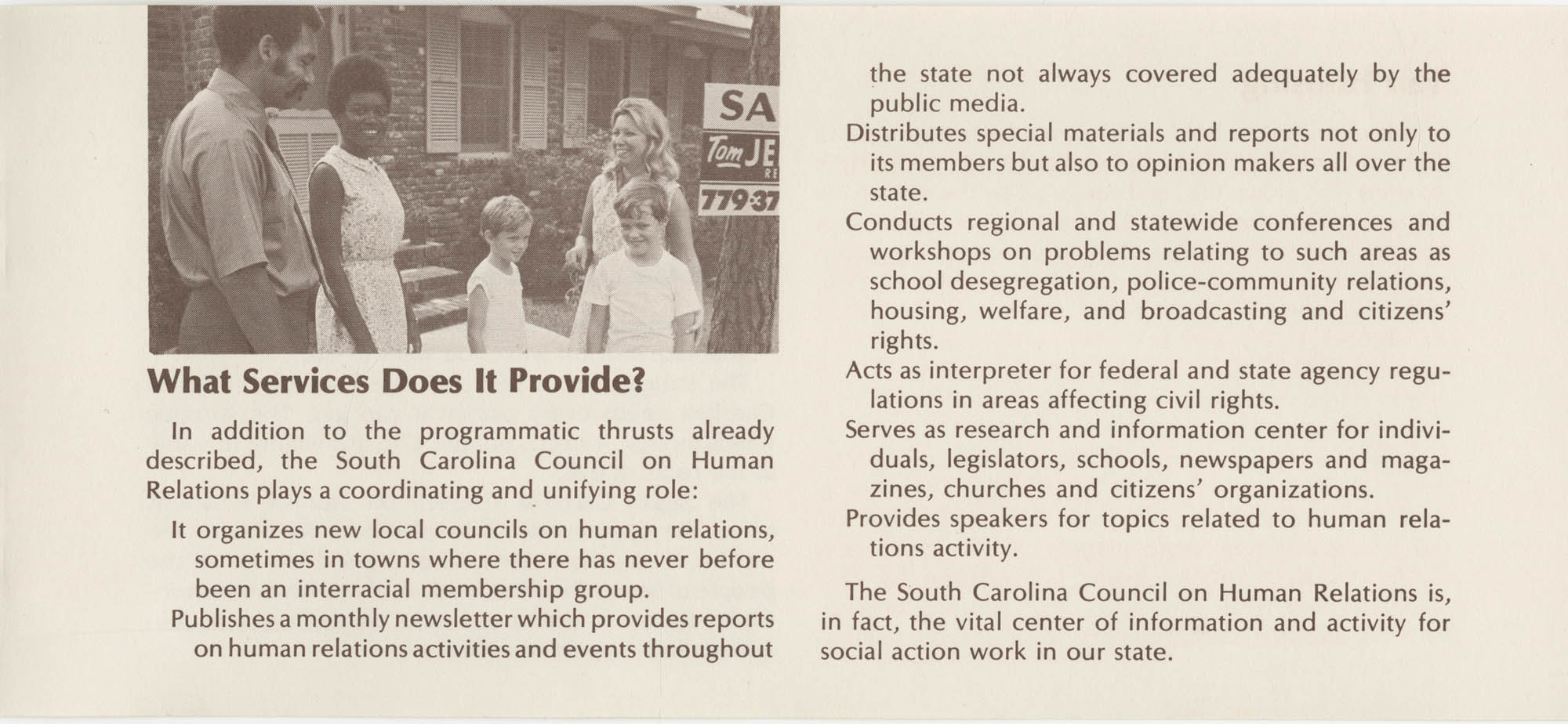 South Carolina Council on Human Relations Pamphlet, Page 4