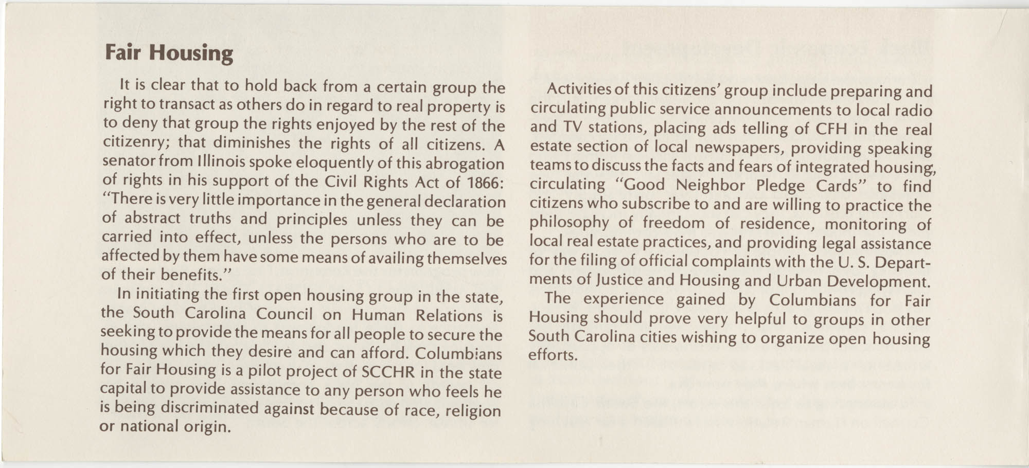 South Carolina Council on Human Relations Pamphlet, Page 9