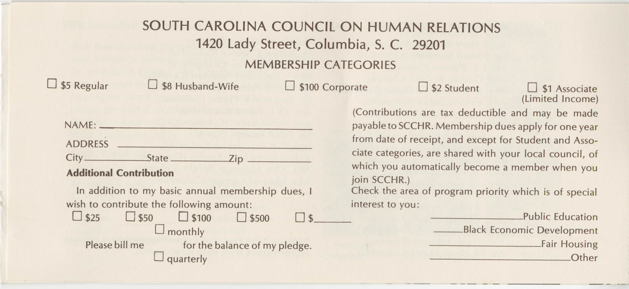 South Carolina Council on Human Relations Pamphlet, Page 12