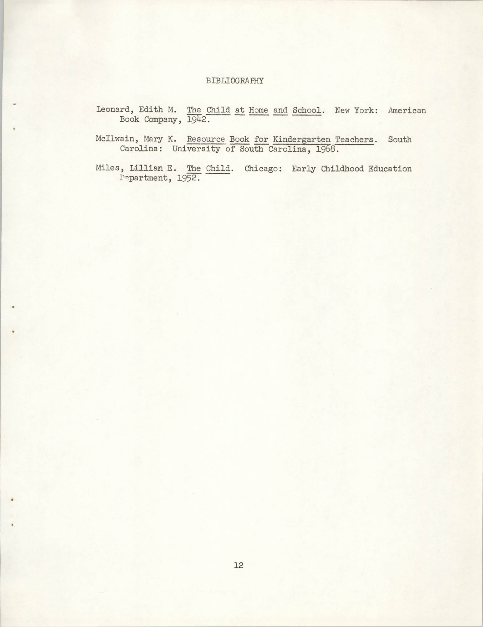 Child Care Ministry, Dorchester County, S.C., Page 12