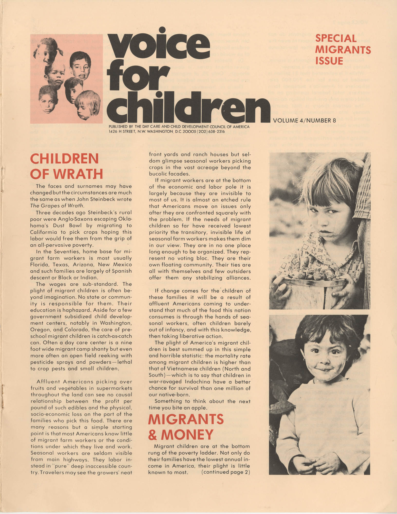 Voice For Children, Volume 4, Number 8, Cover