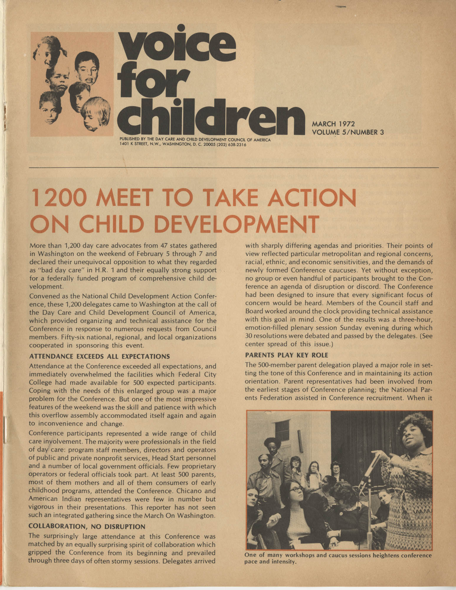 Voice For Children, Volume 5, Number 3, Cover