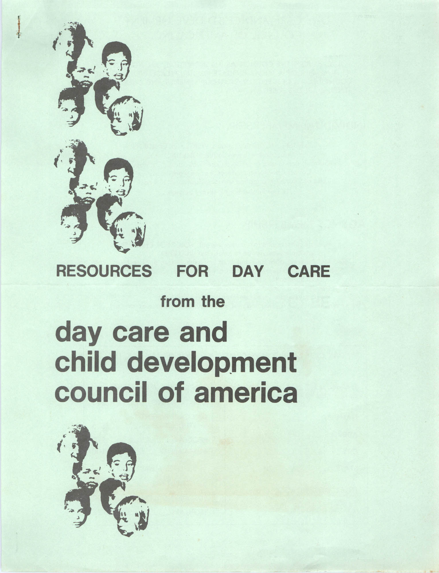 Resources for Day Care, Front Cover Exterior