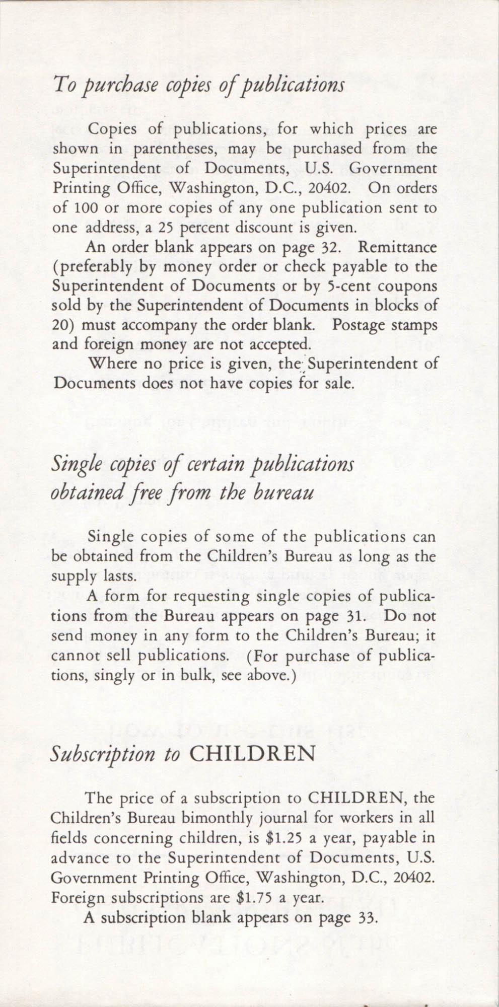 Publications of the Children's Bureau, Page 1b